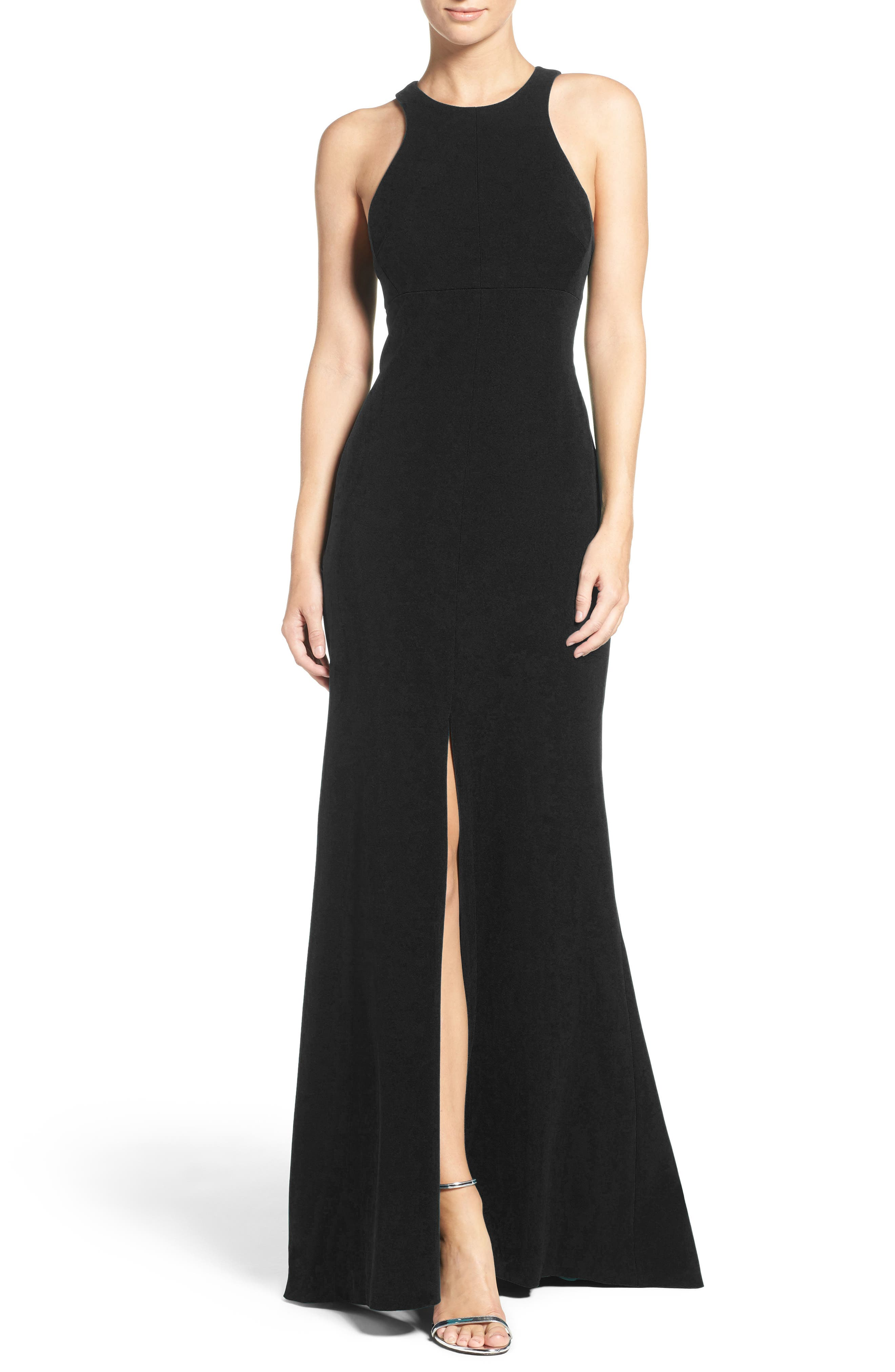 Vera Wang Stretch Woven Mermaid Gown