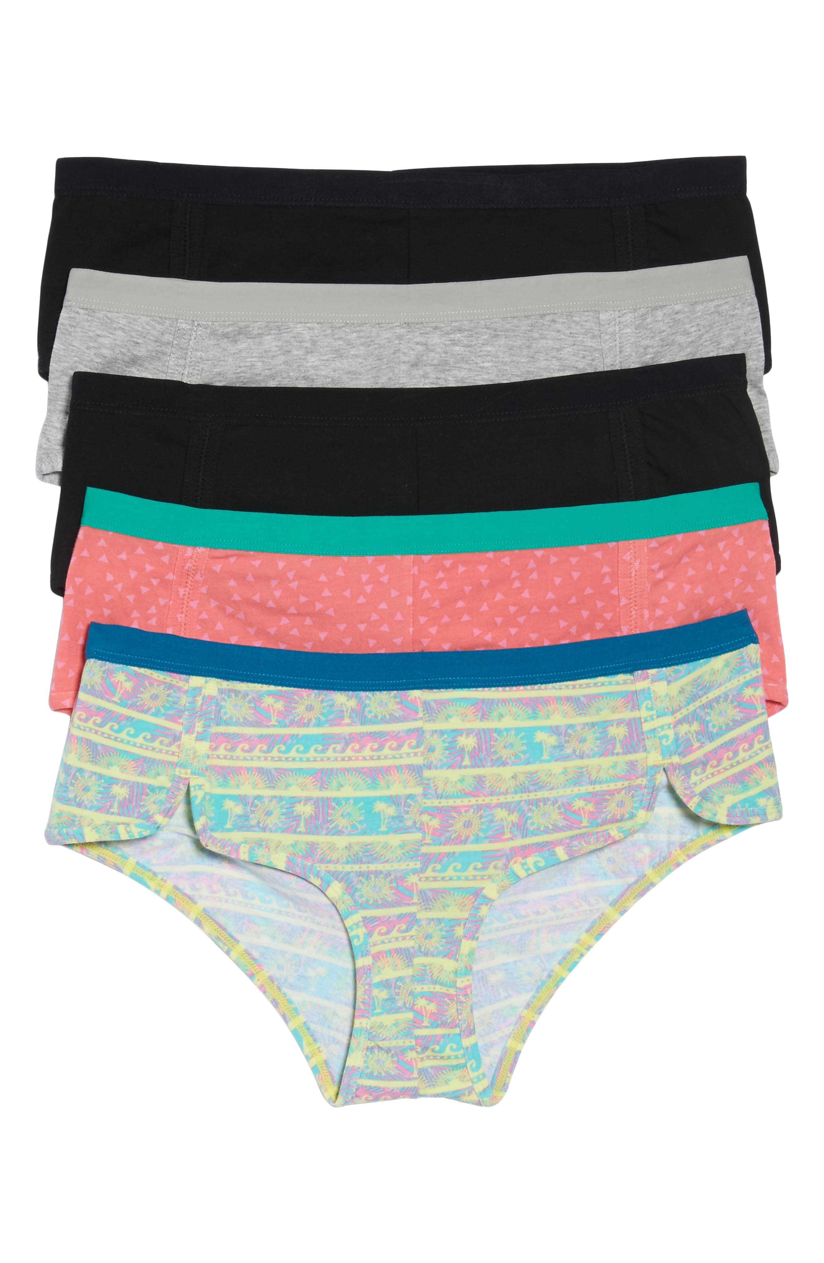 h.dew 5-Pack Stretch Cotton Girlshorts