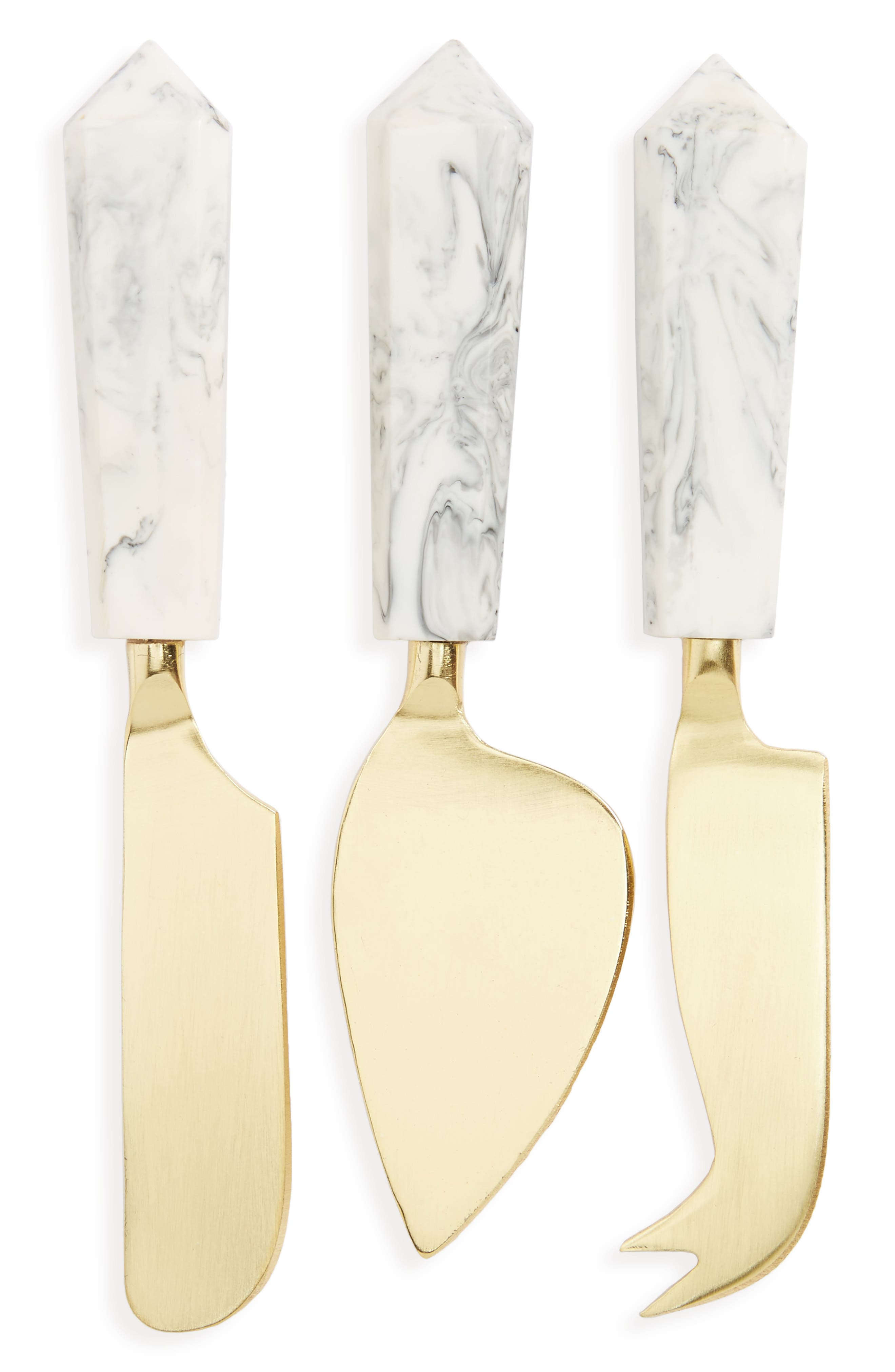 Thirstystone Set of 3 Patina Vie Cheese Knives