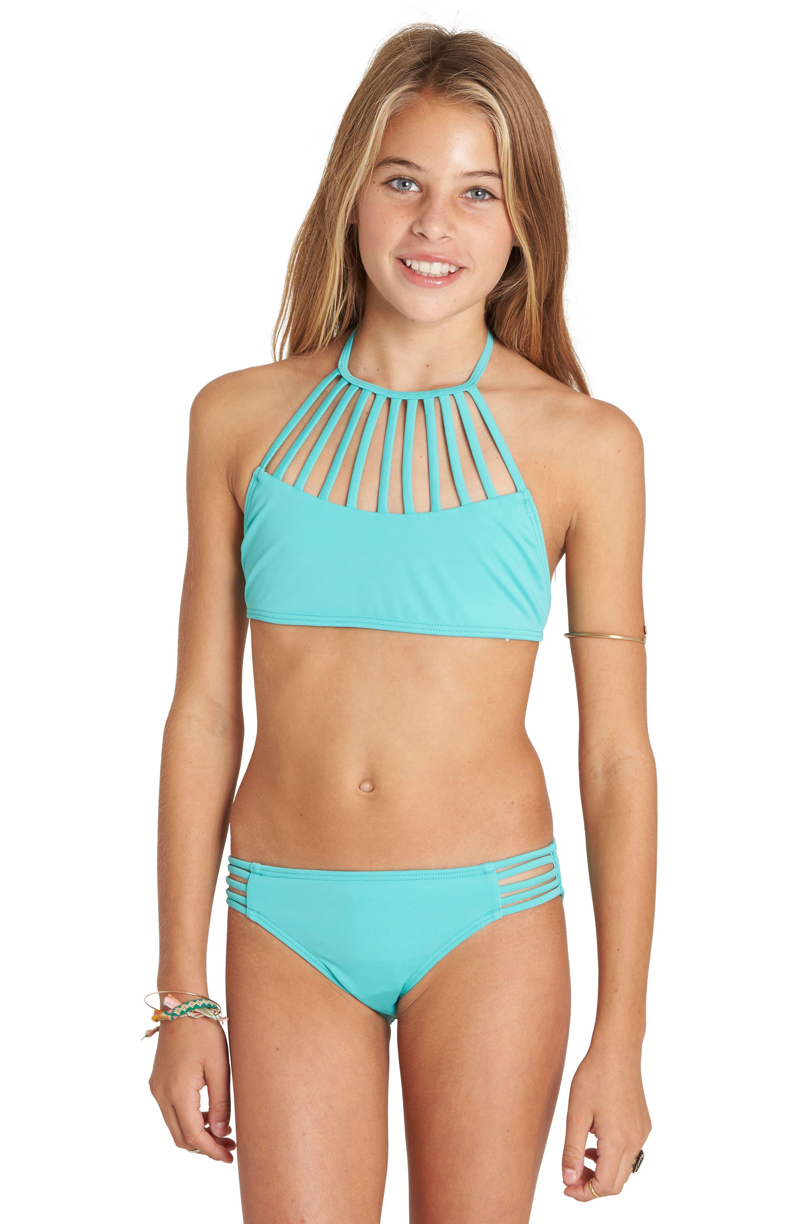 Billabong Sol Searcher Two-Piece Halter Swimsuit (Little Girls & Big Girls)