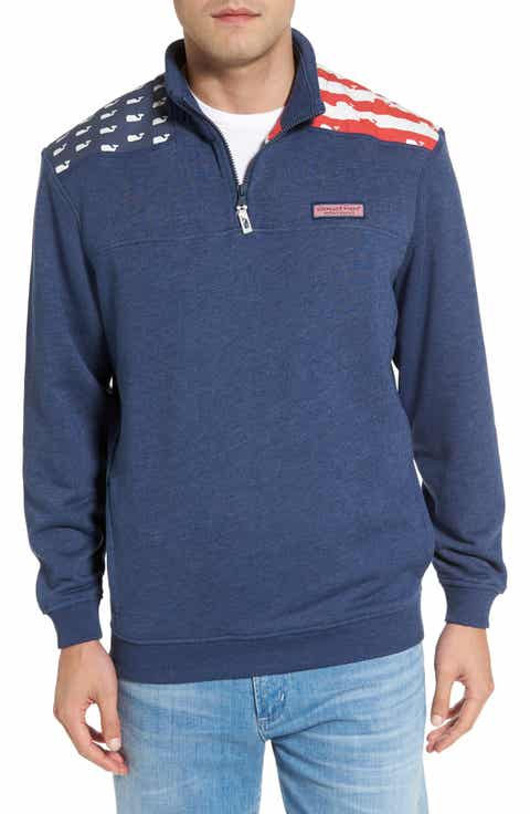 Vineyard Vines Shep - USA Quarter Zip Pullover