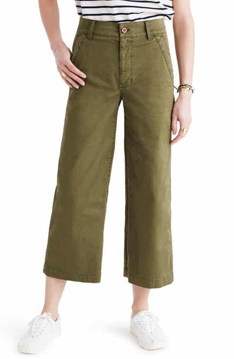 Madewell Dearborn Wide Leg Crop Pants