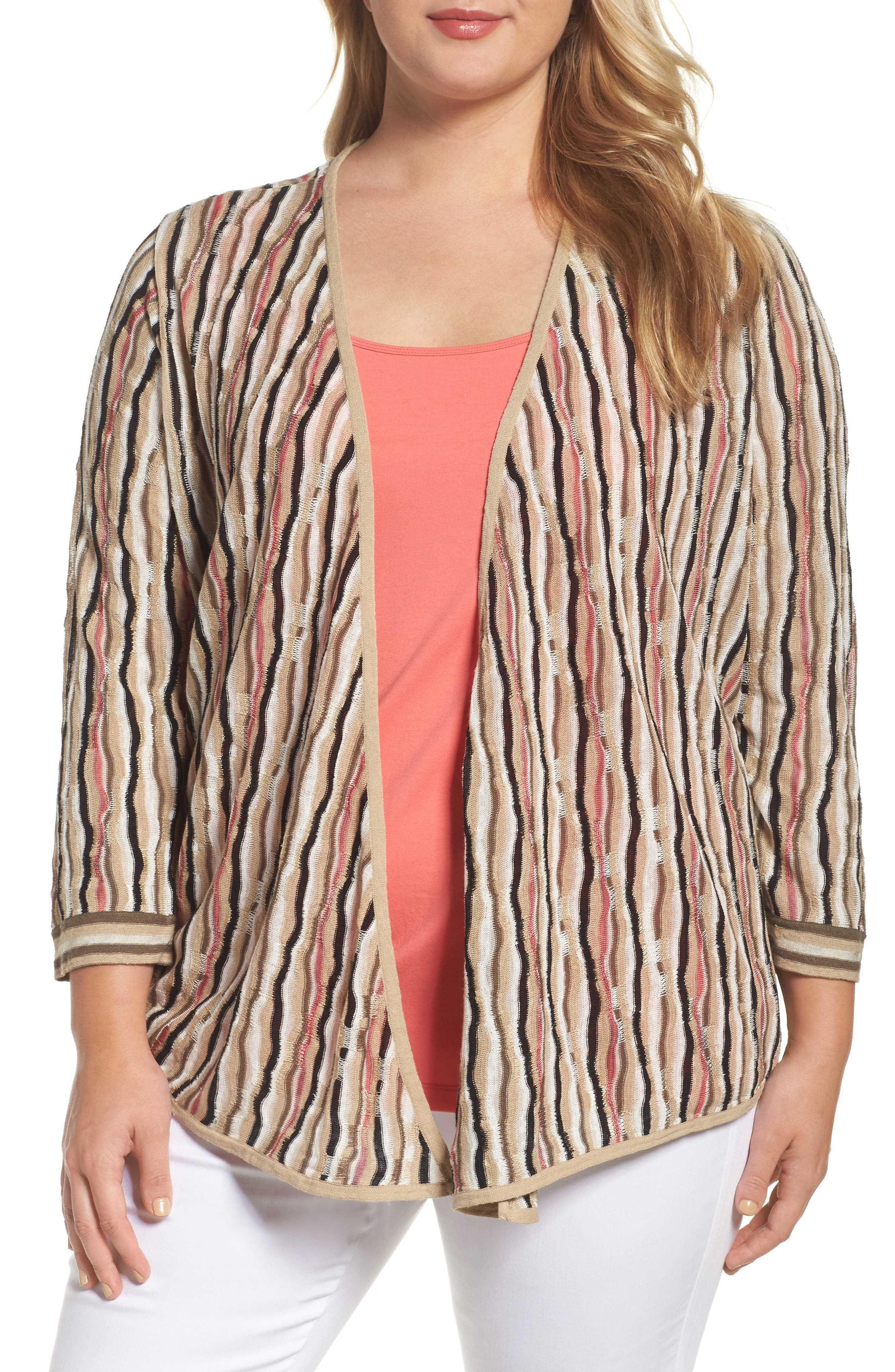 NIC+ZOE Origami 4-Way Cardigan (Plus Size)