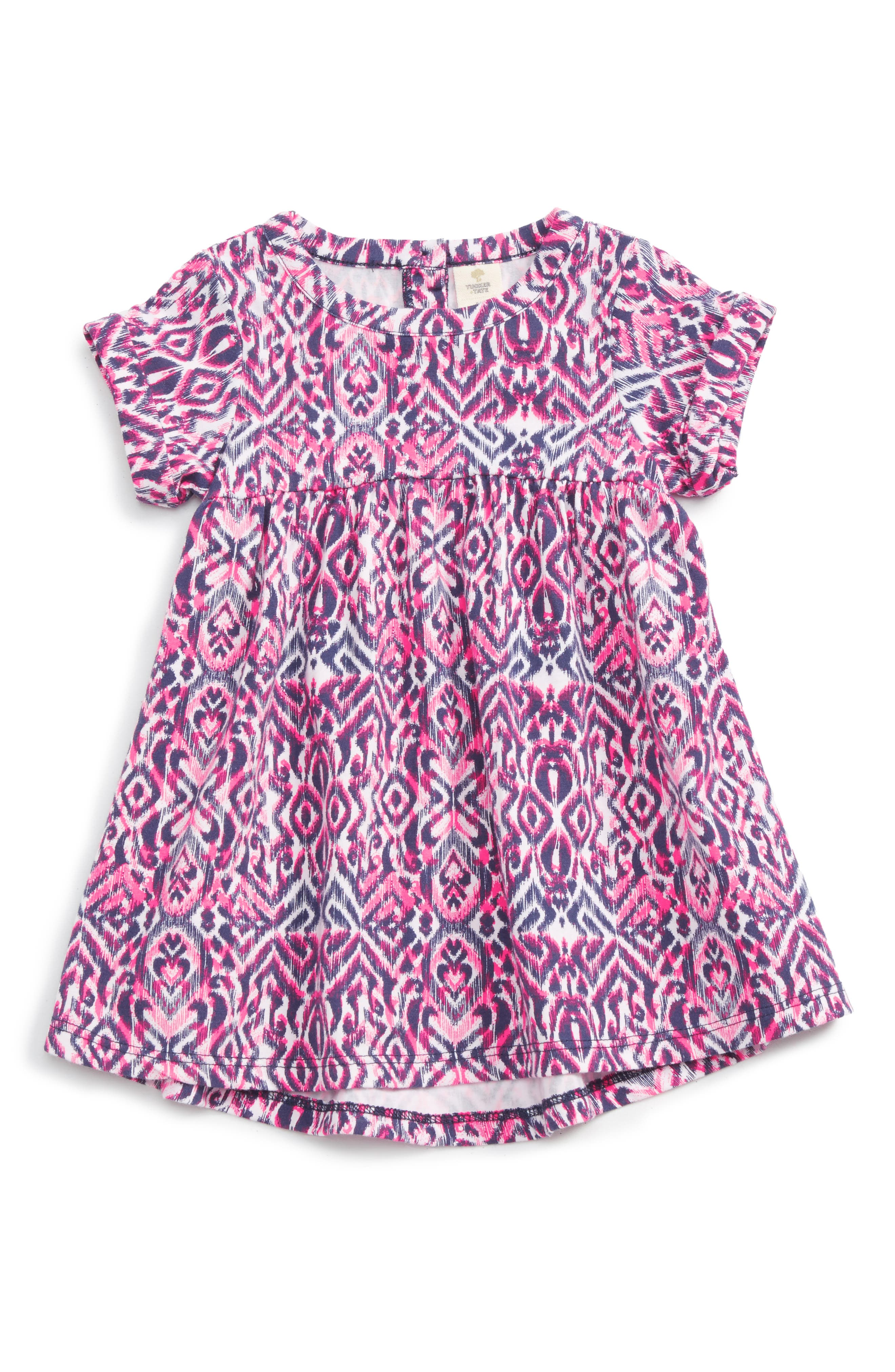 Tucker + Tate Print Short Sleeve Dress (Baby Girls)