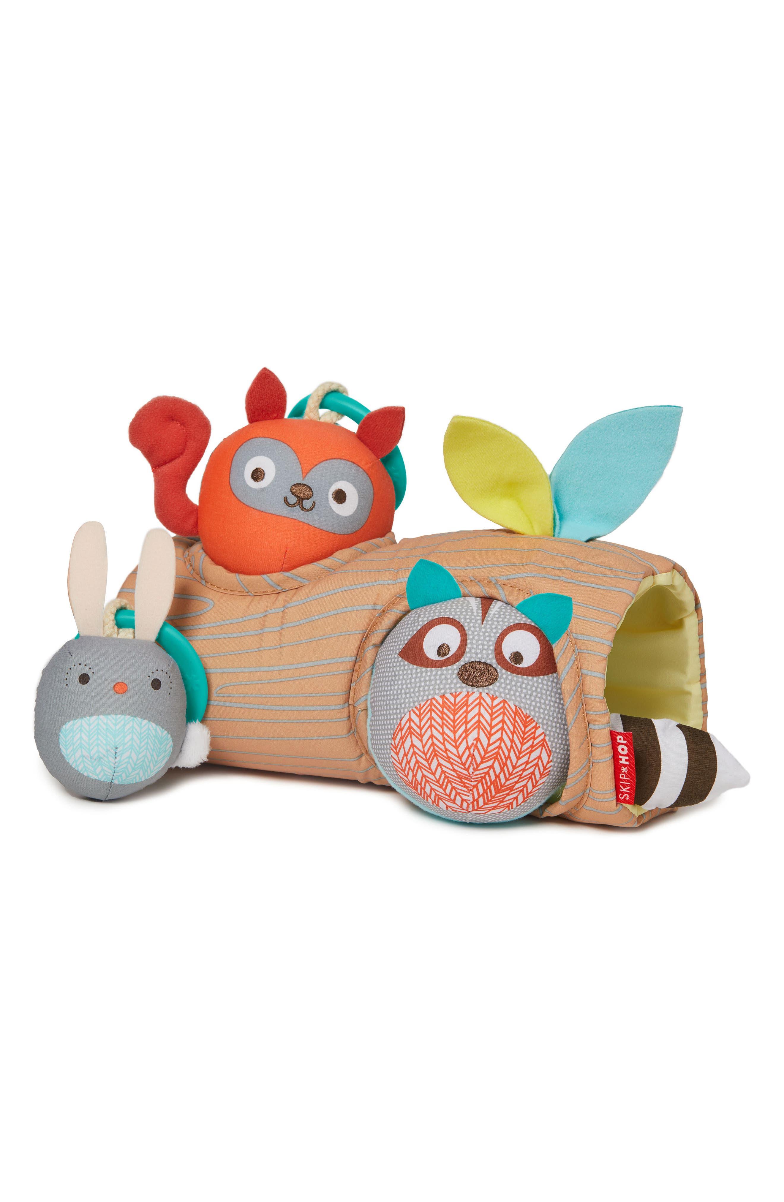 Skip Hop Camping Cubs Peek-a-Boo Ball Rattle Trio Toy