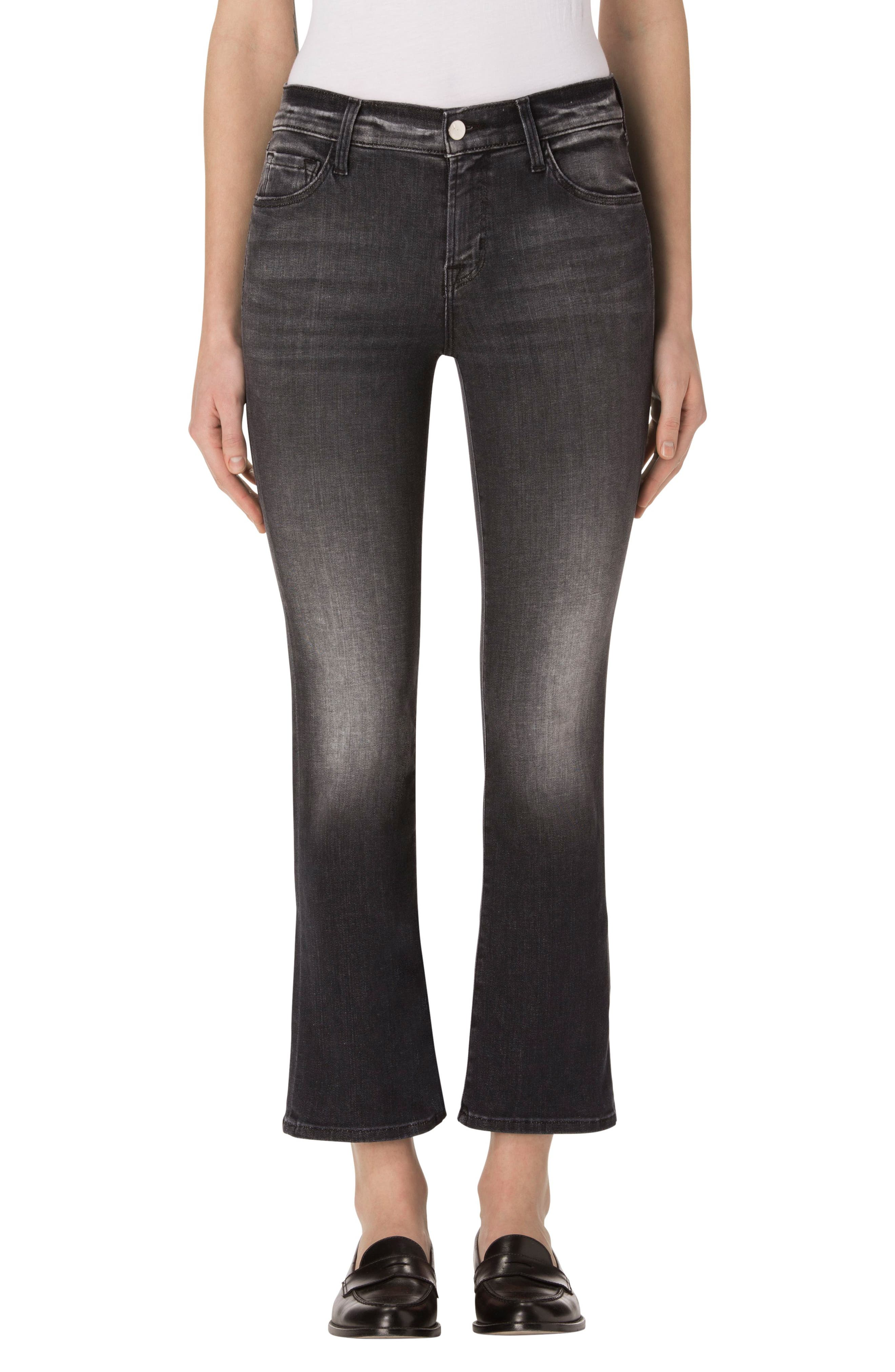 J Brand Selena Crop Bootcut Jeans (Black Heath)