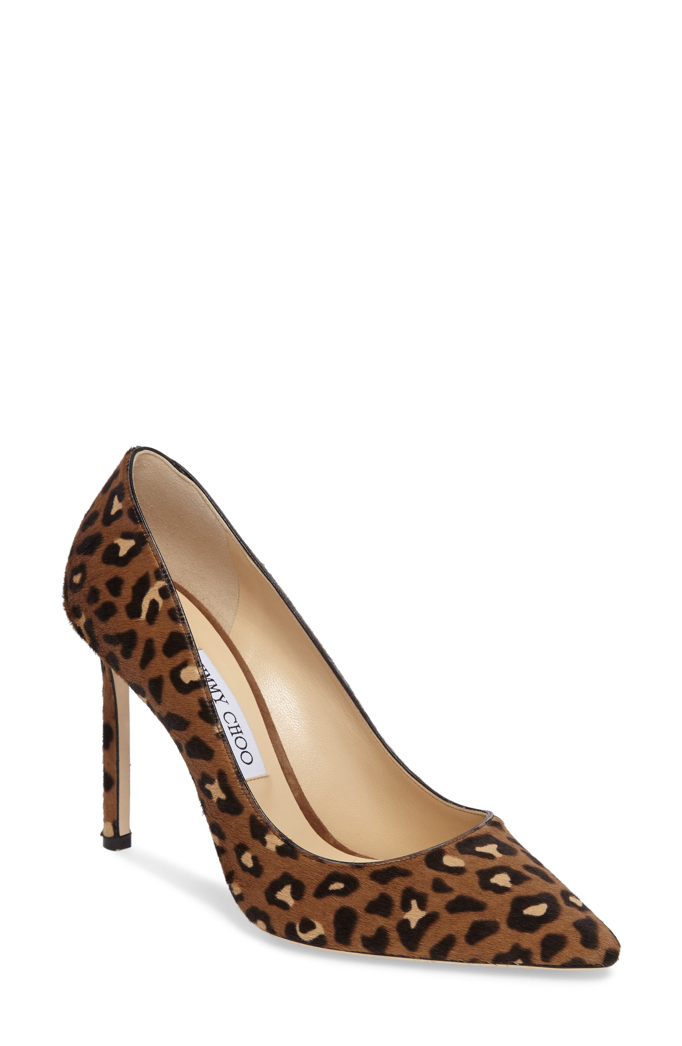 Jimmy Choo Romy Genuine Calf Hair Pointy Toe Pump (Women)