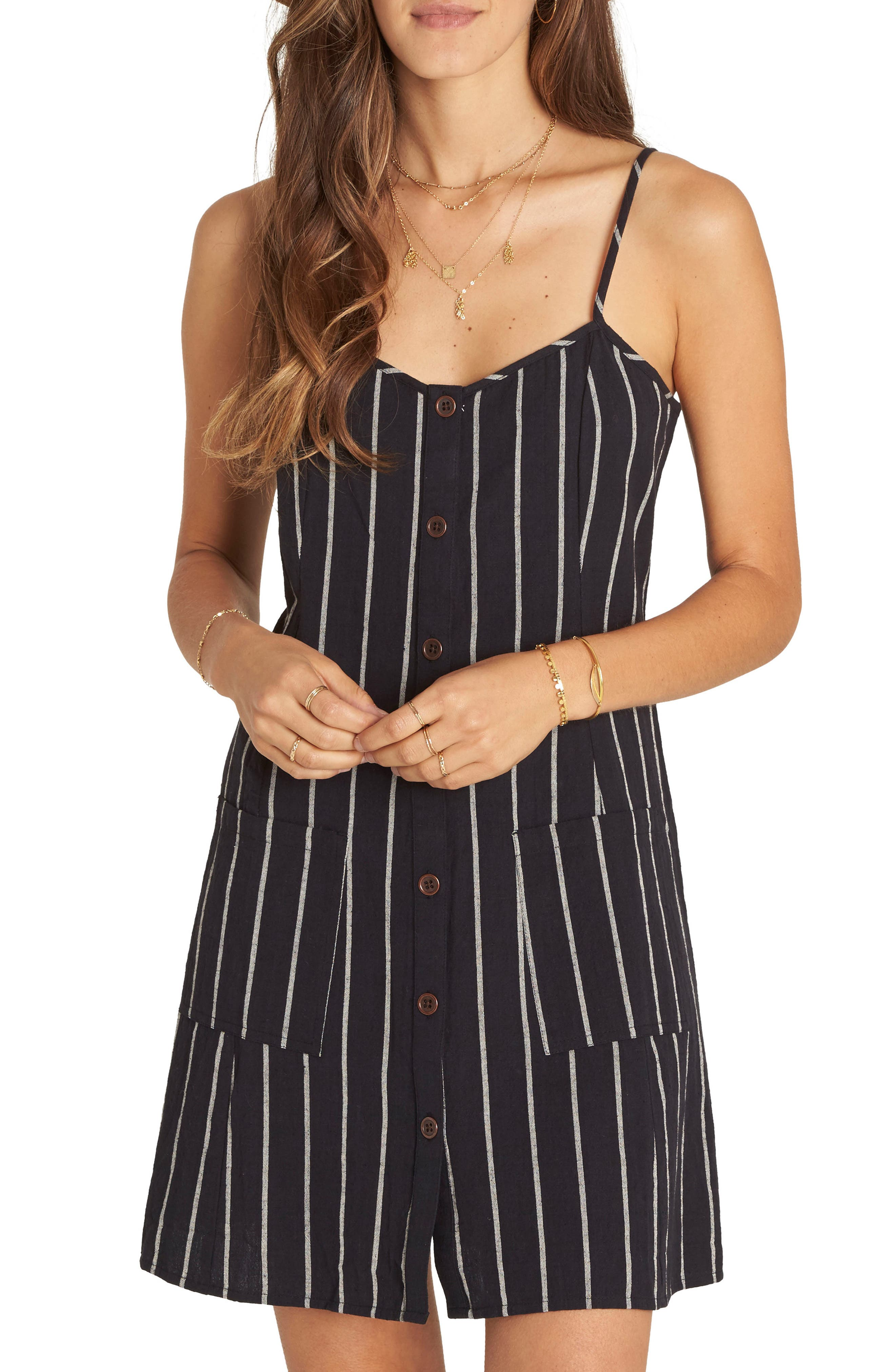 Billabong Hot Hap Stripe Slipdress