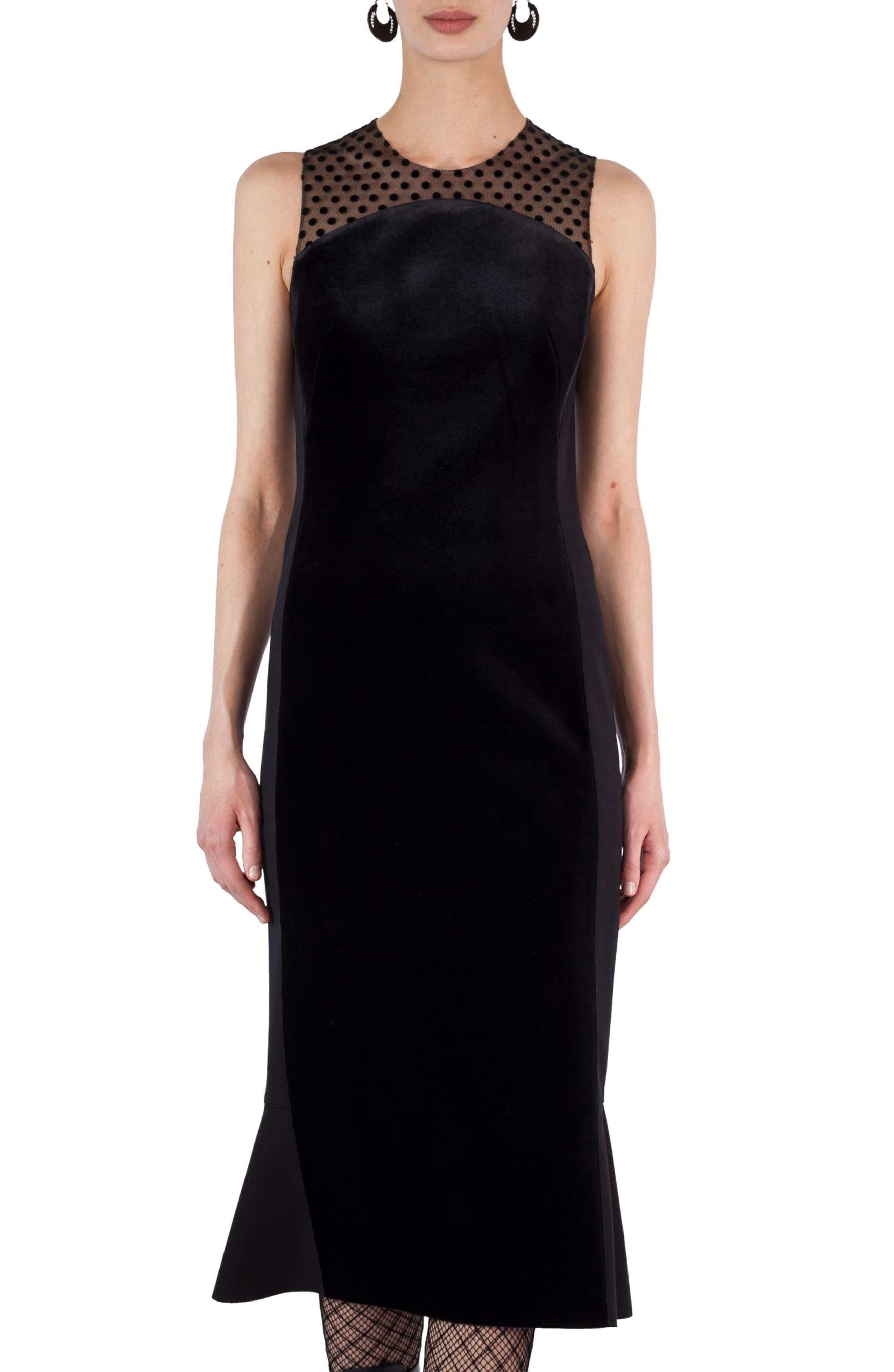 Akris punto Illusion Velvet Trumpet Dress