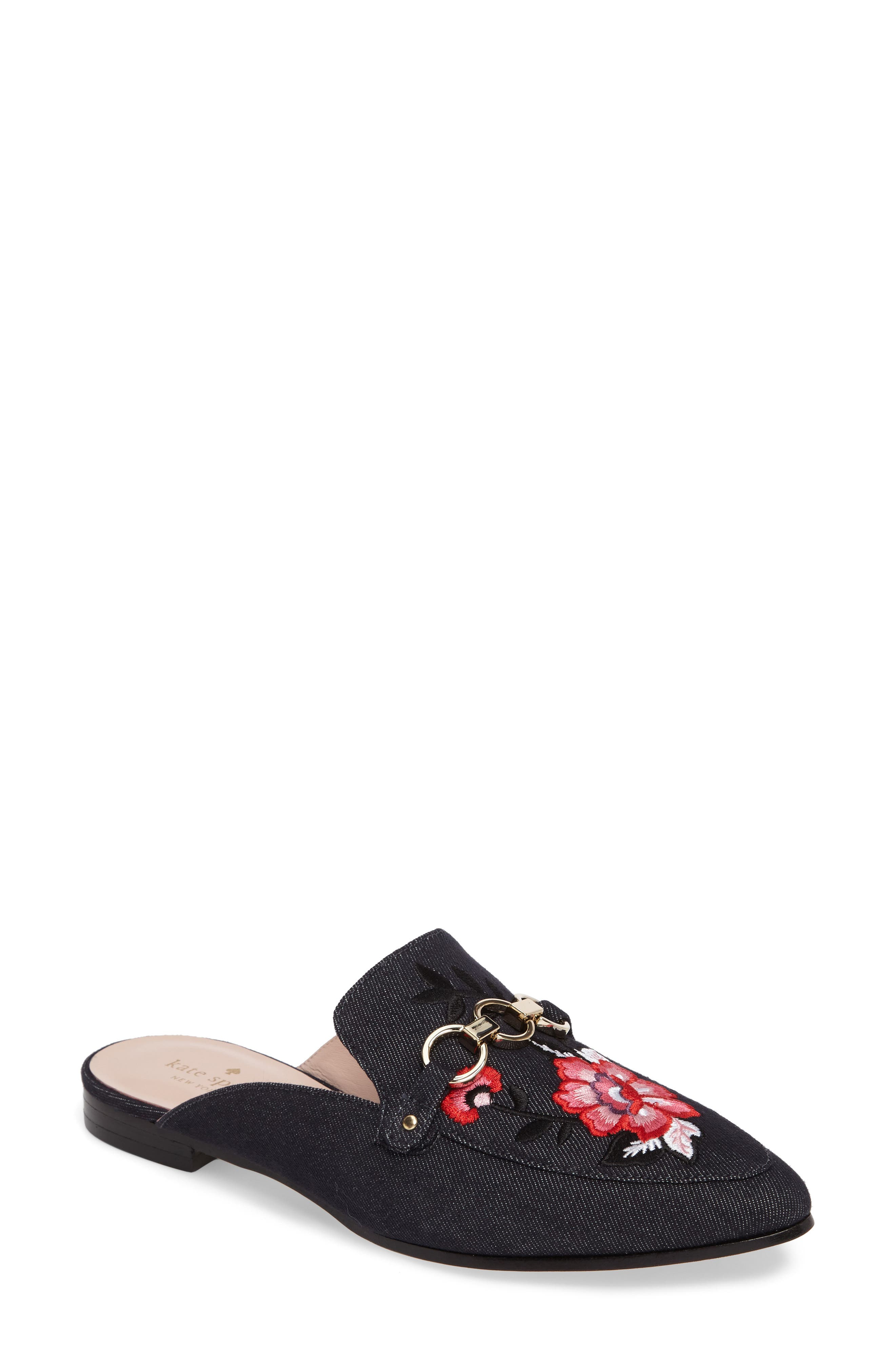 kate spade new york canyon embroidered loafer mule (Women)