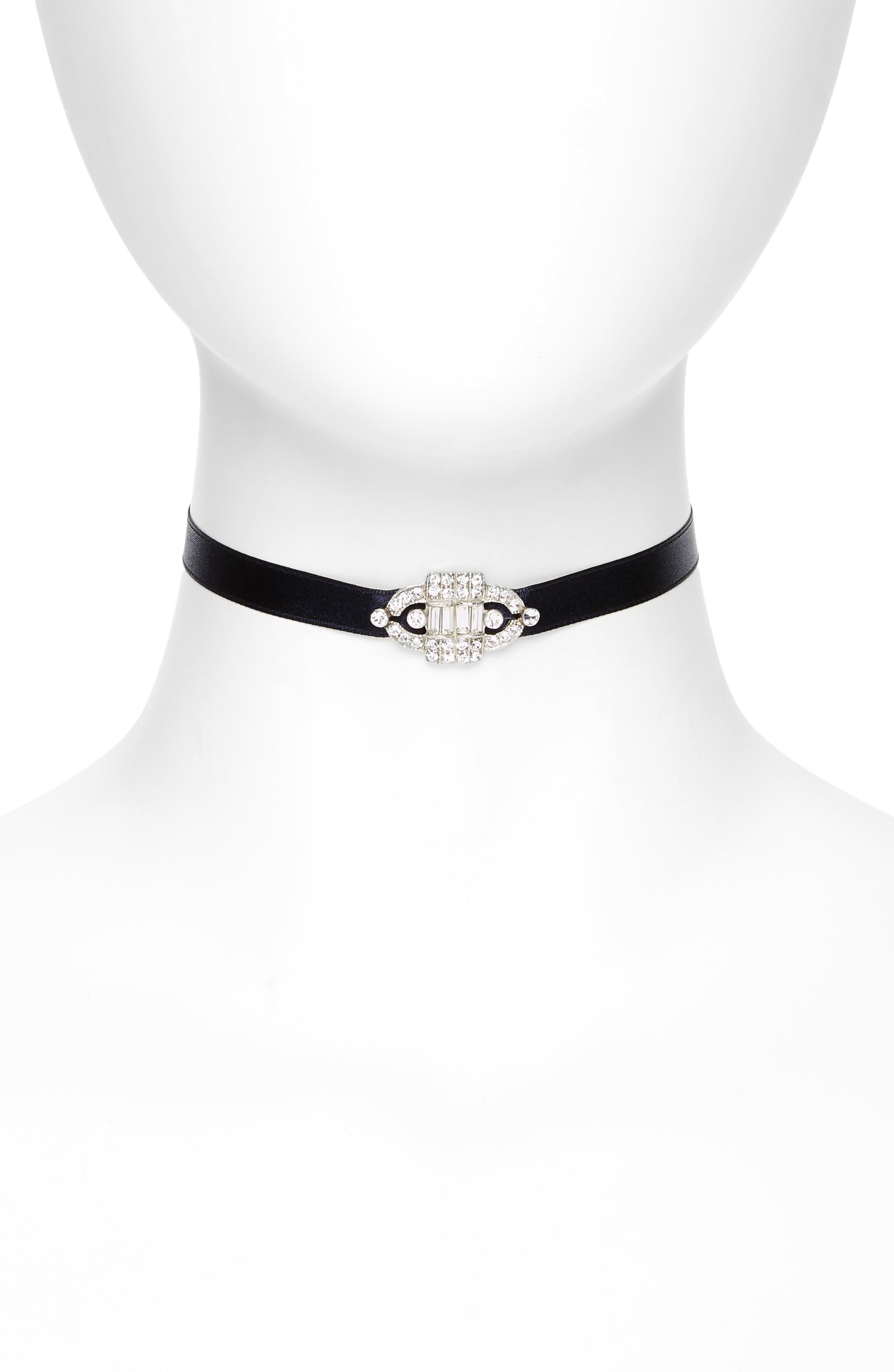 Ben-Amun Deco Satin Choker Necklace