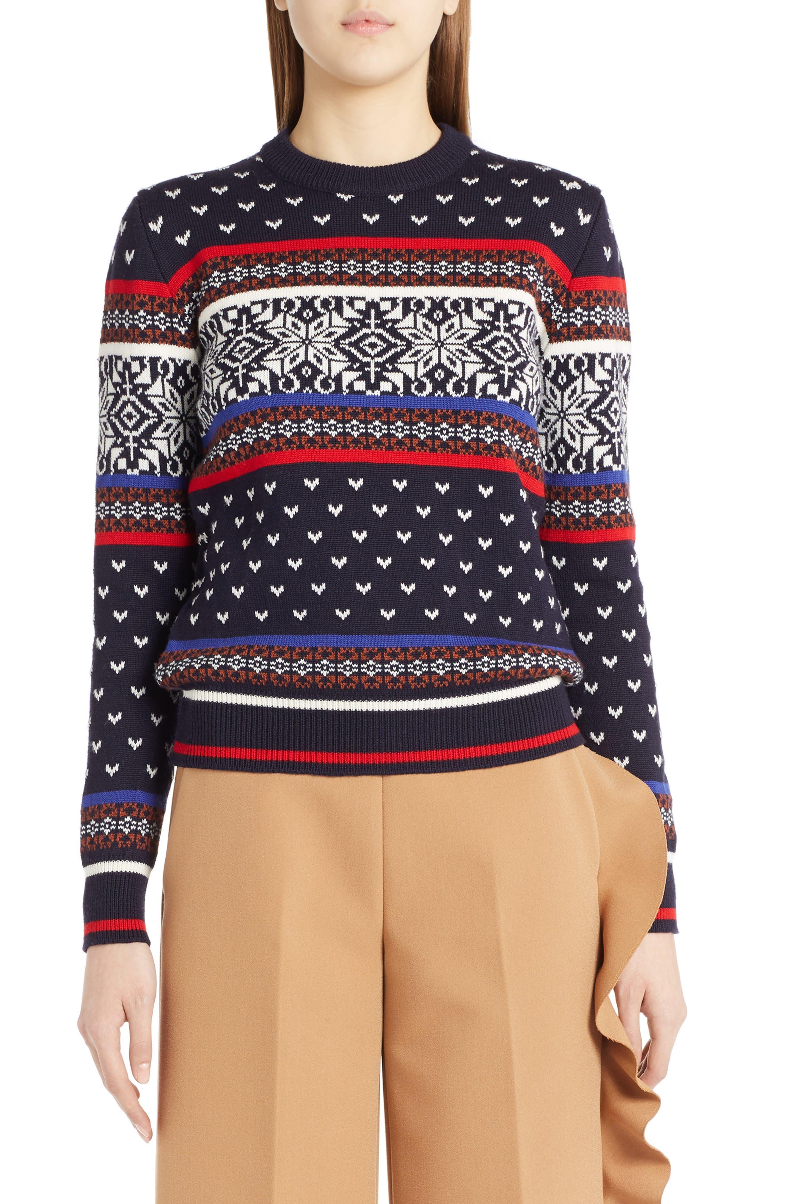 MSGM Wool Blend Ski Sweater