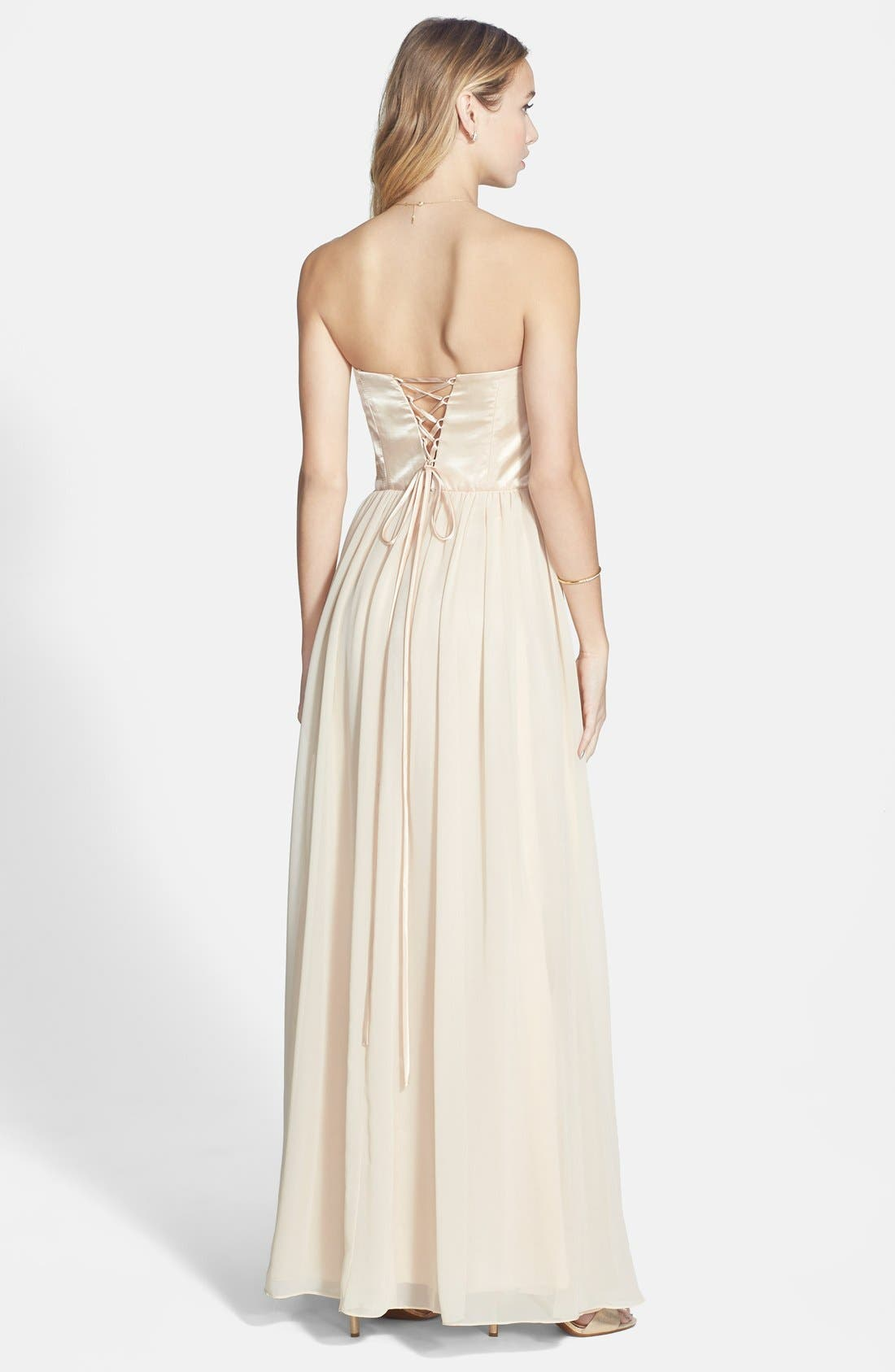 Alternate Image 2  - Xscape Embellished Chiffon Fit & Flare Gown