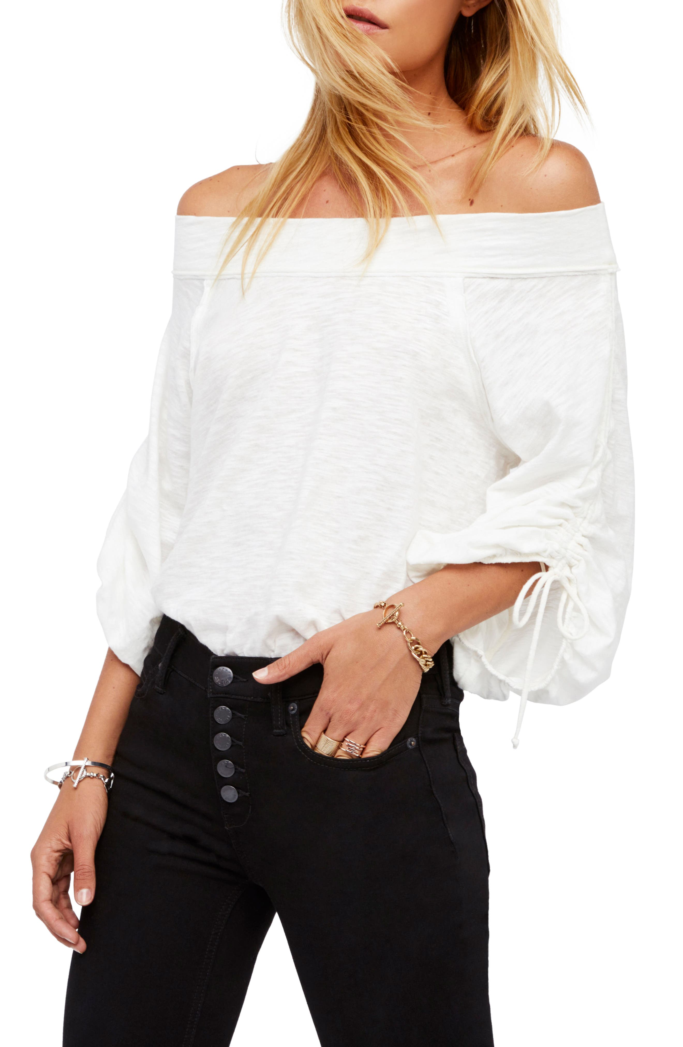 Main Image - Free People Bohema Off the Shoulder Top