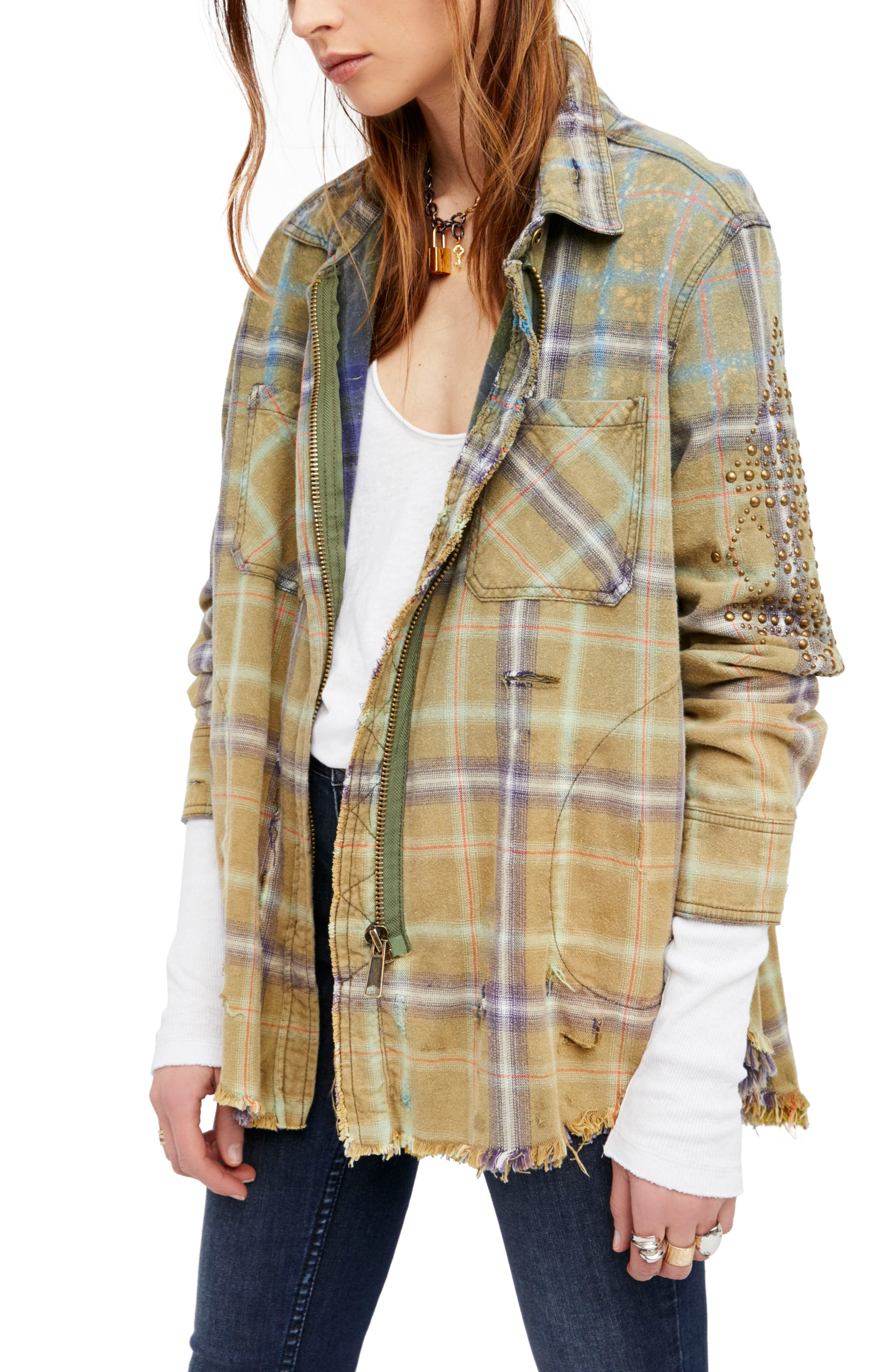 Free People Deconstructed Shirt Jacket