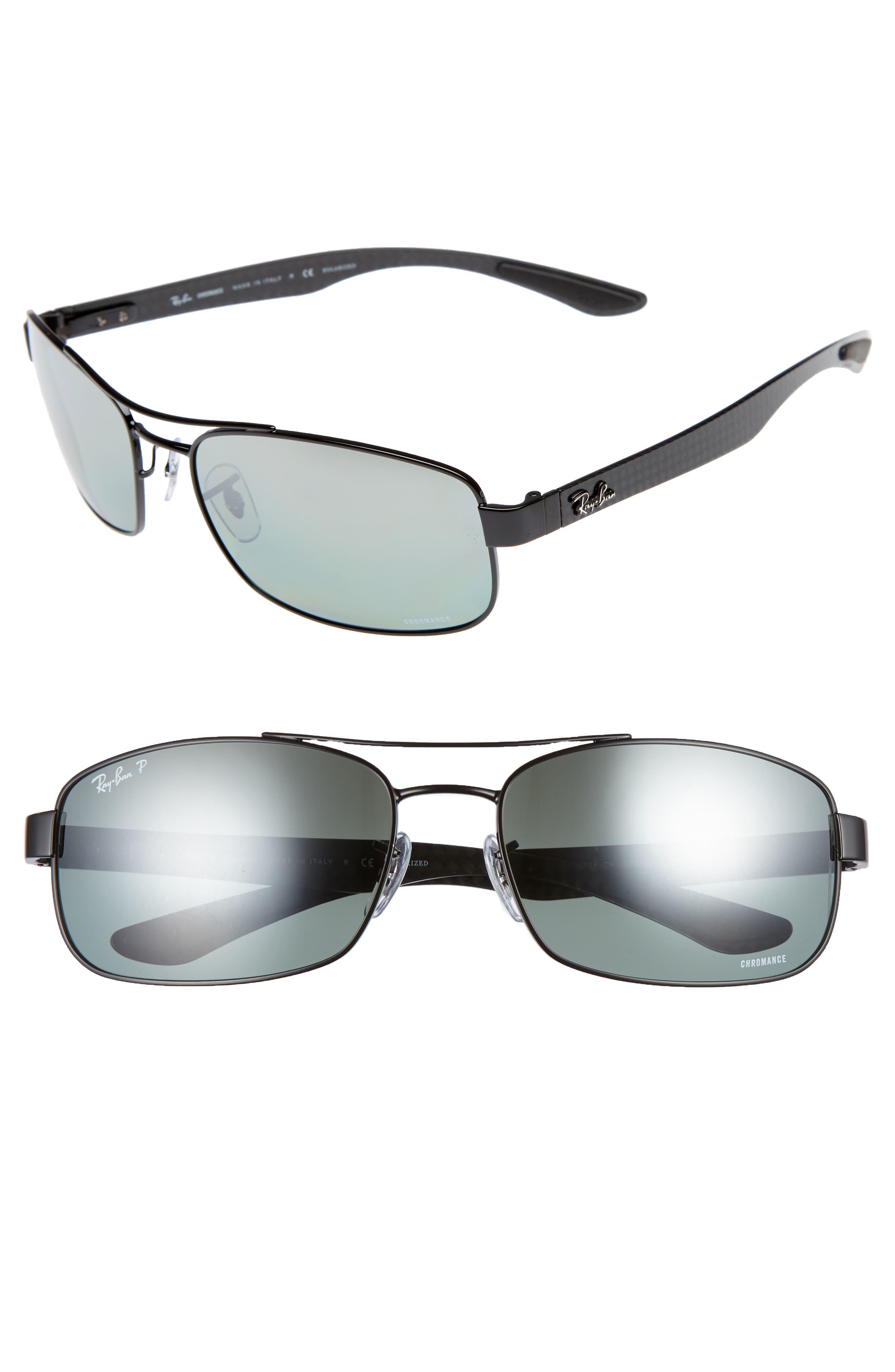 Ray-Ban Chromance 62mm Polarized Sunglasses
