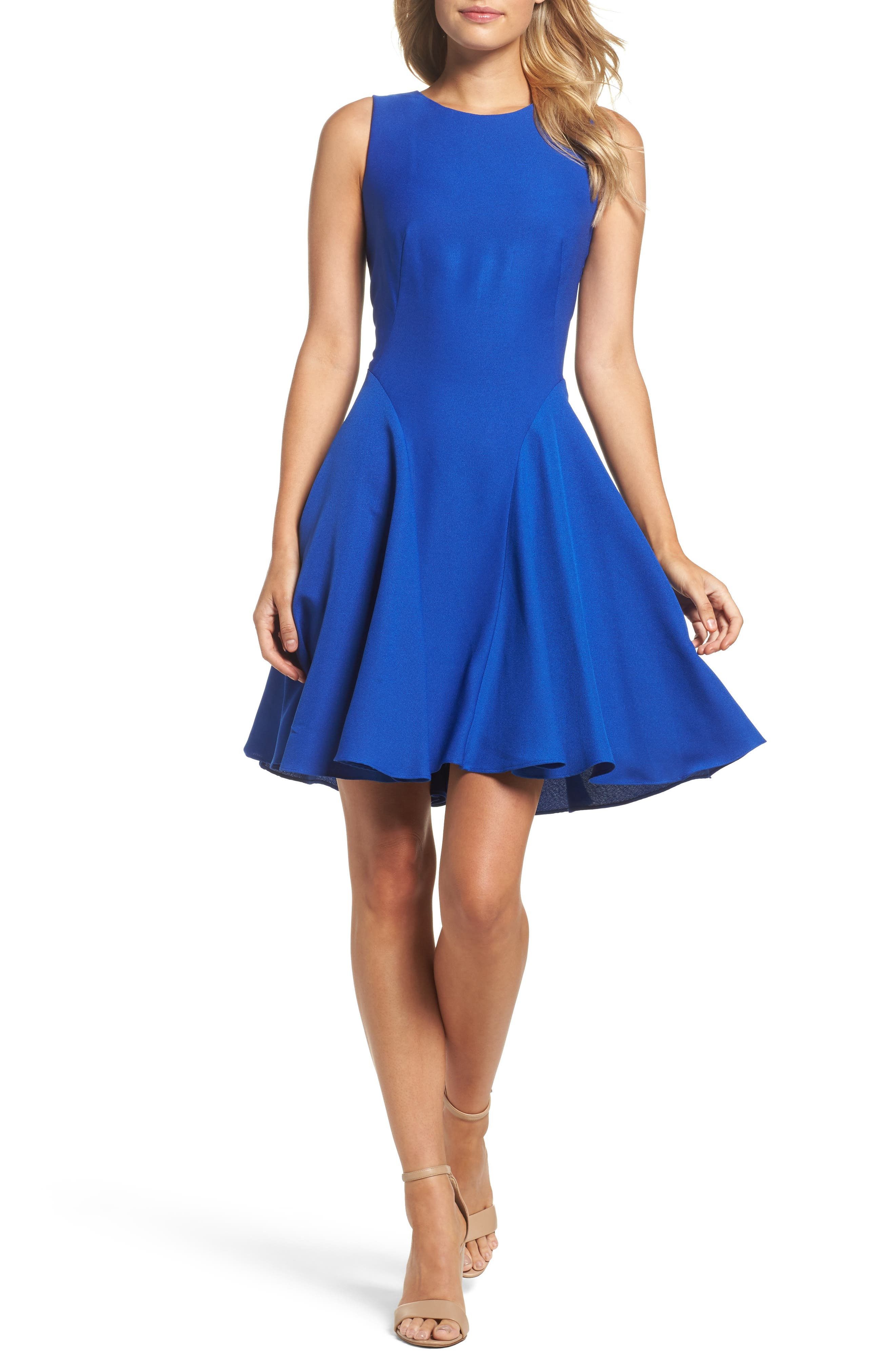 Eliza J Fit & Flare Dress (Regular & Petite)