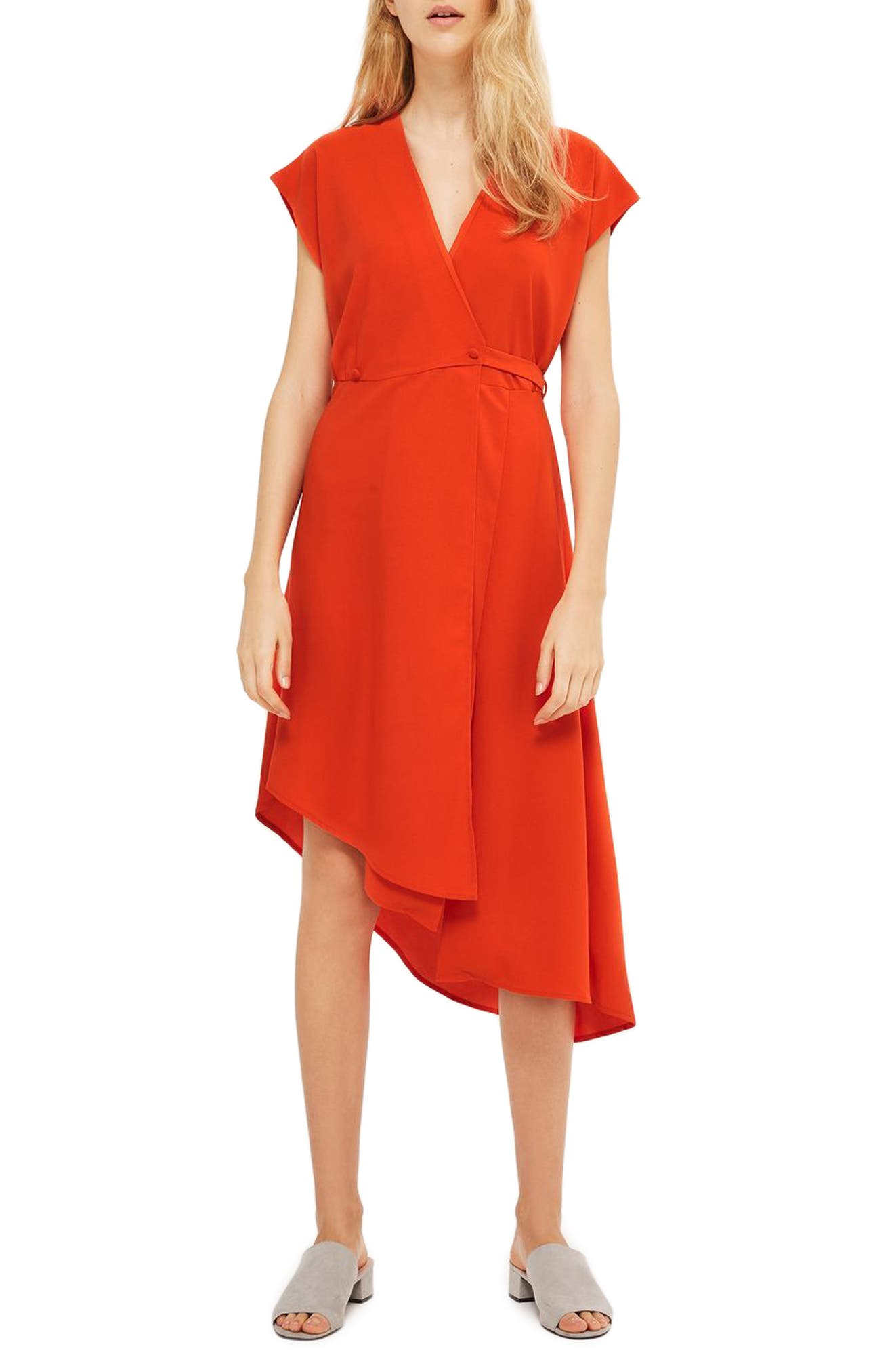 Topshop Emily Asymmetrical Wrap Dress