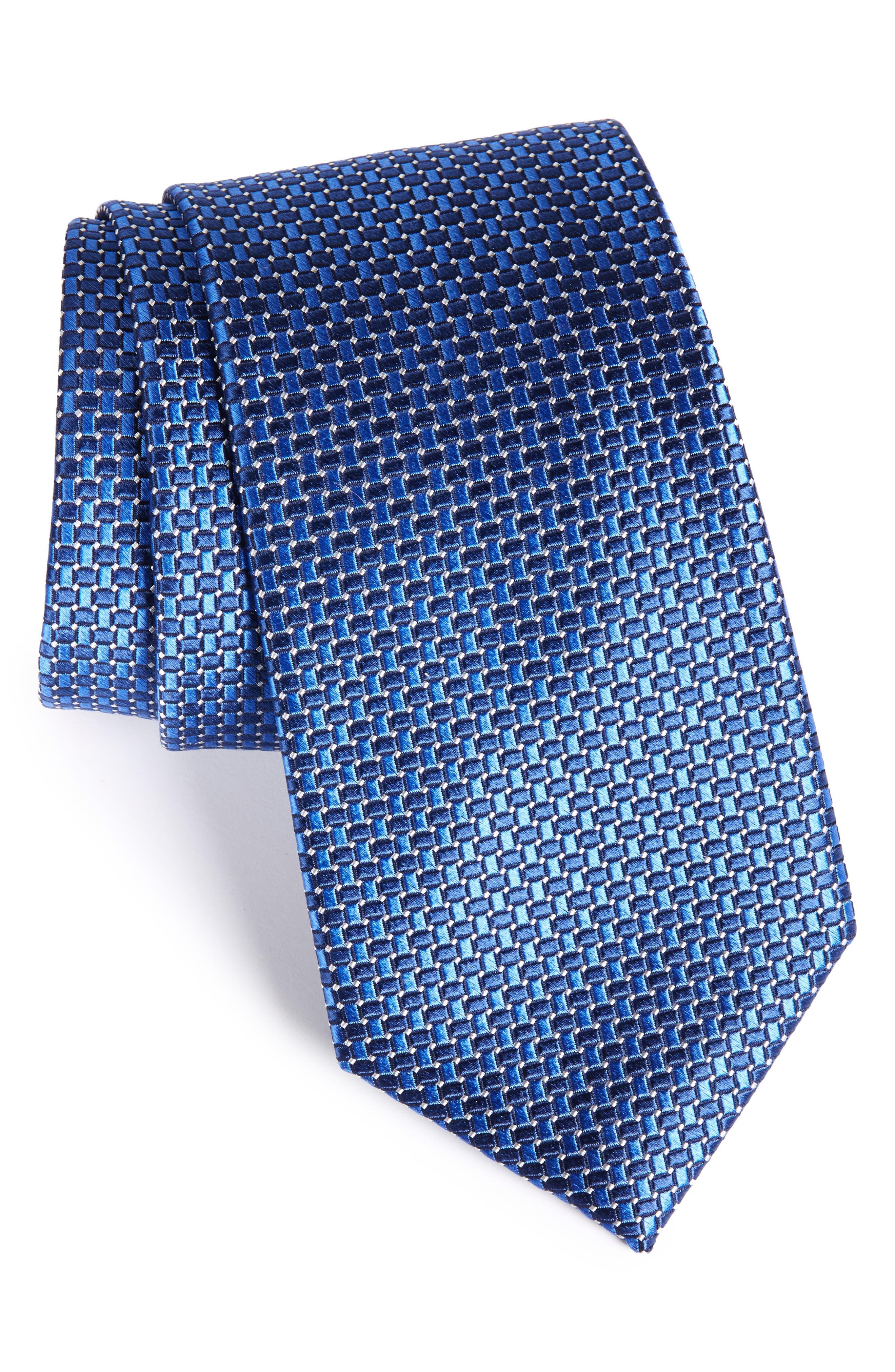 Nordstrom Men's Shop 'Small Basket Weave Neat' Woven Silk Tie
