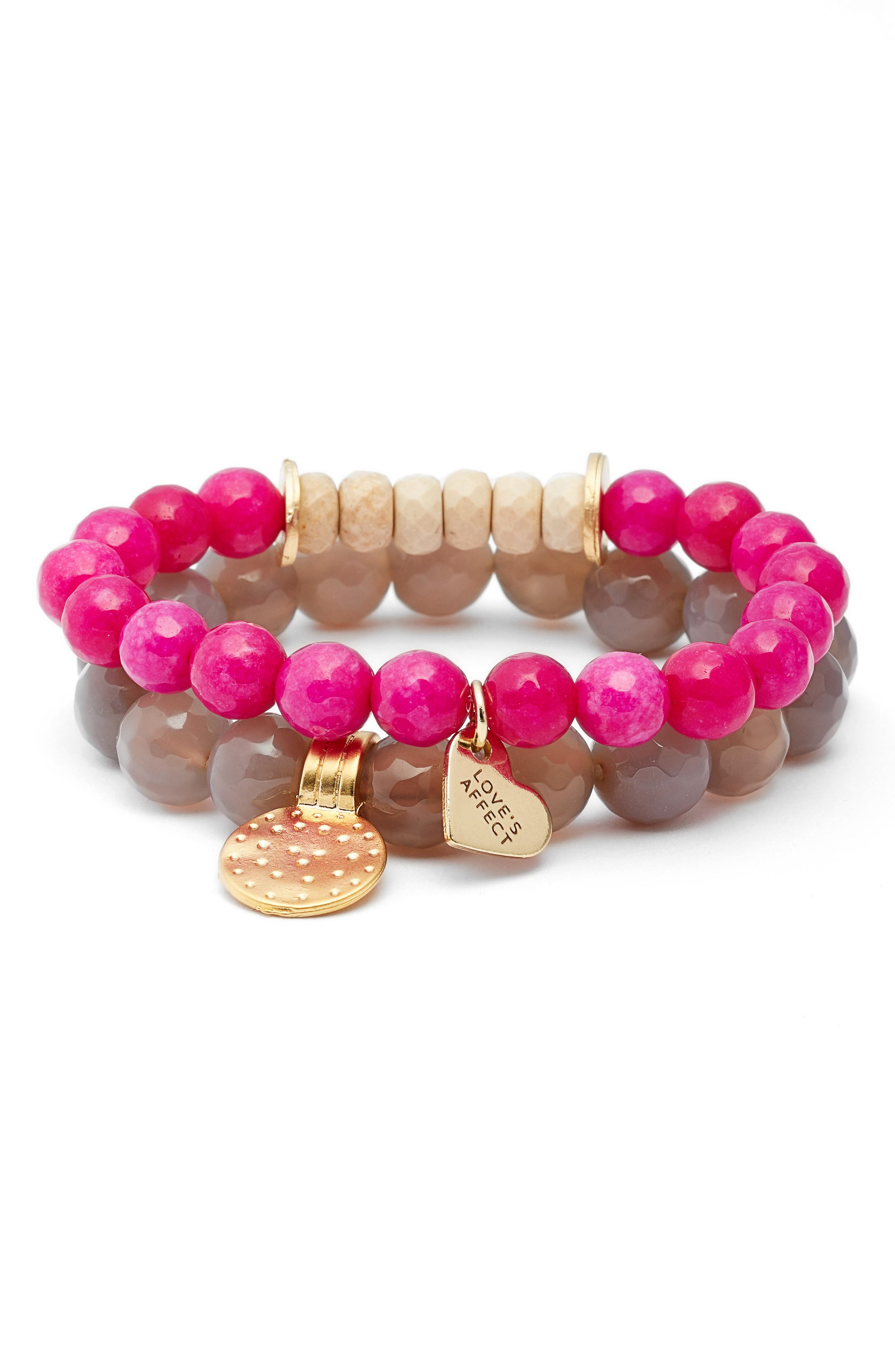 Love's Affect Set of 2 Stretch Bracelets