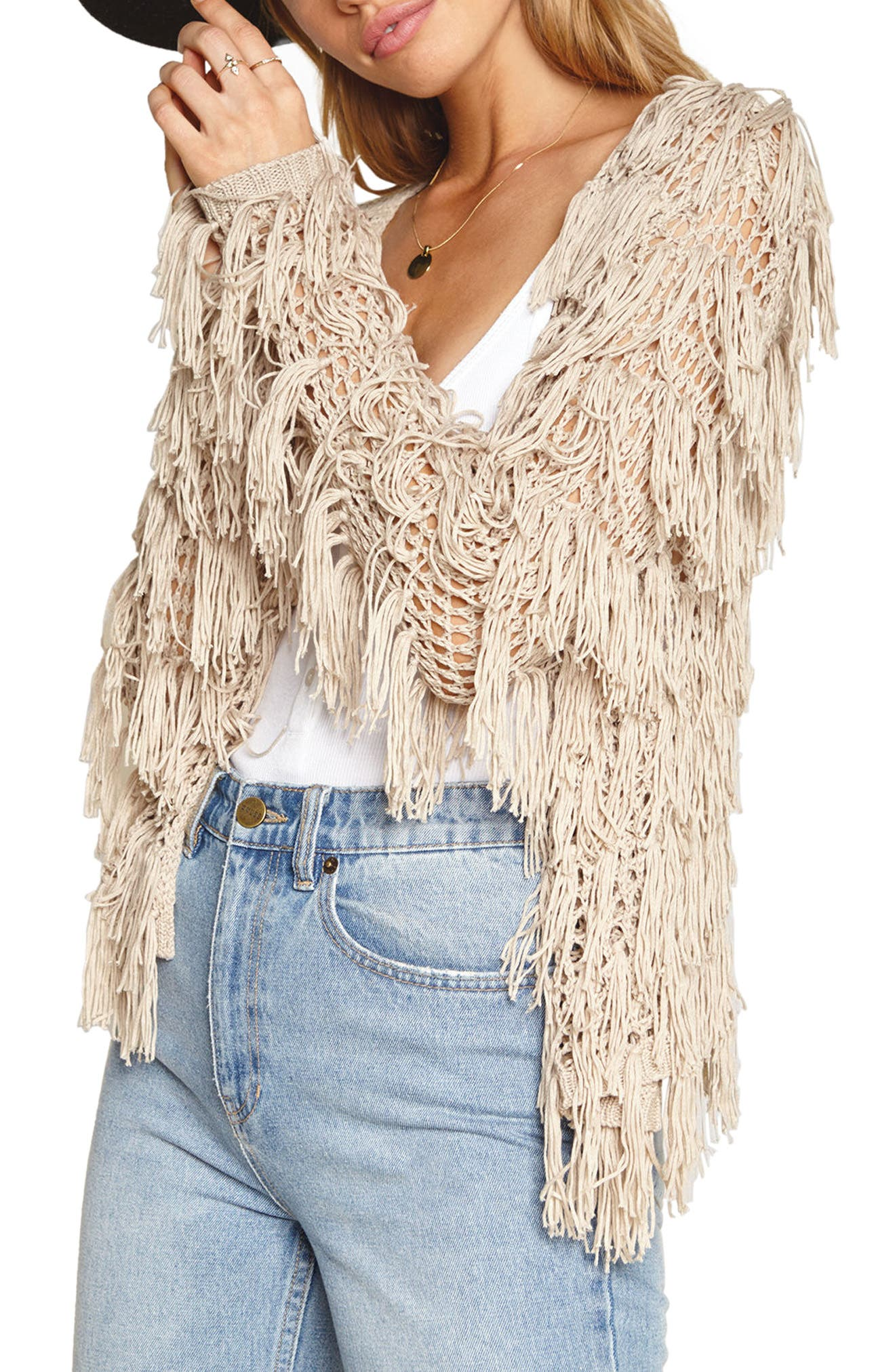 Amuse Society Chelsea Fringe Sweater