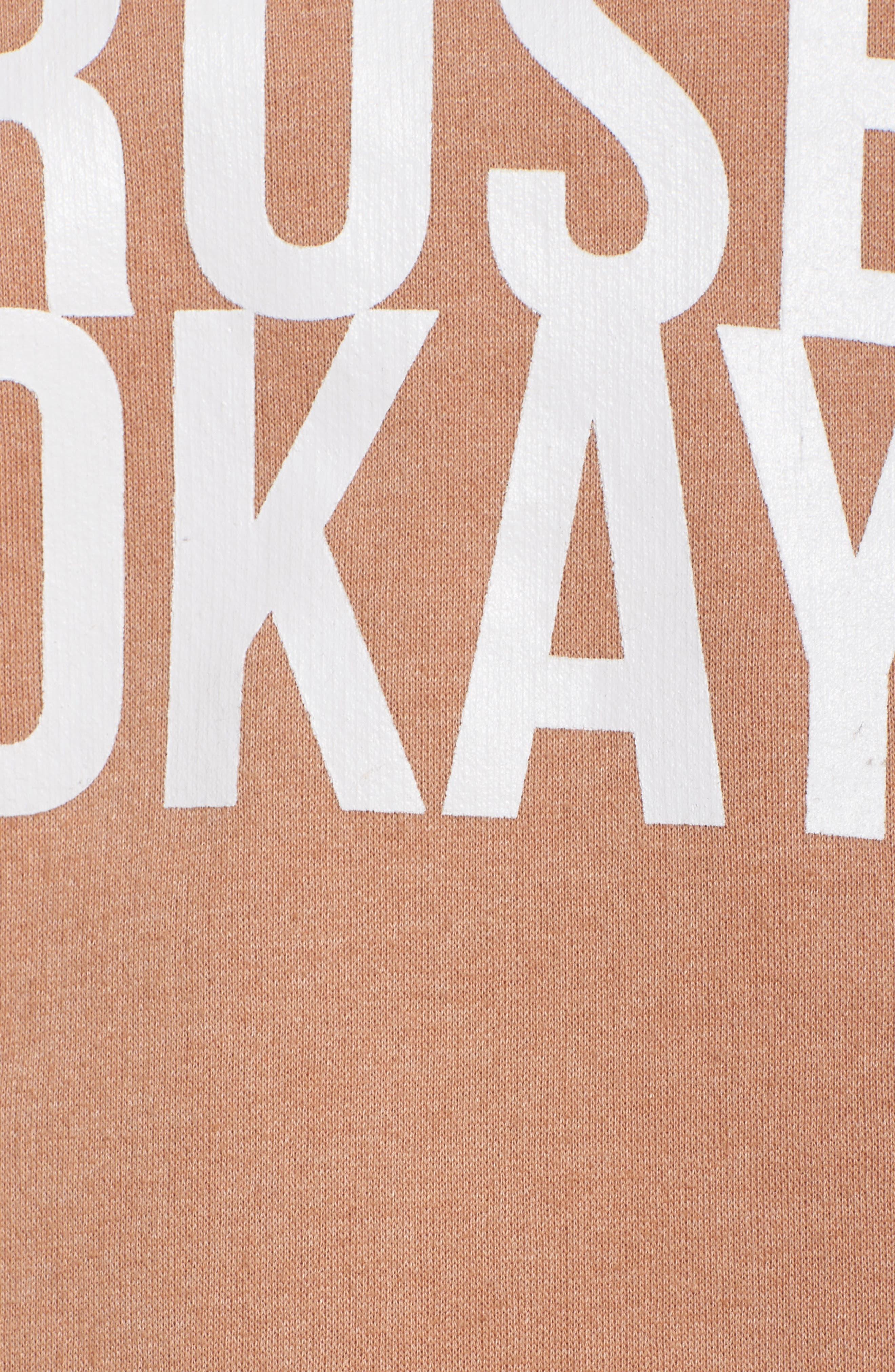 Alternate Image 5  - BRUNETTE the Label Rosé Okay Sweatshirt