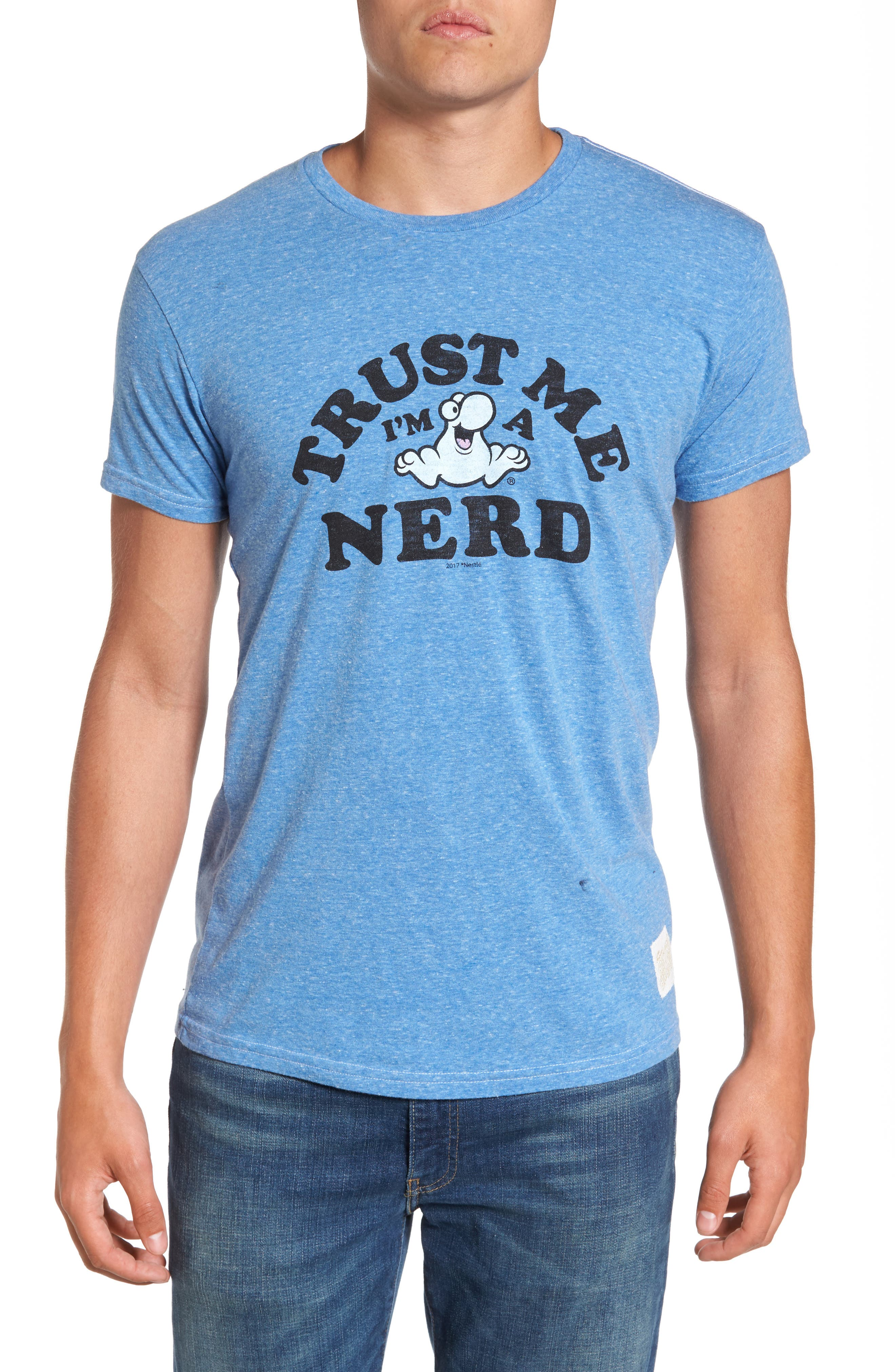 Retro Brand Nerds Graphic T-Shirt