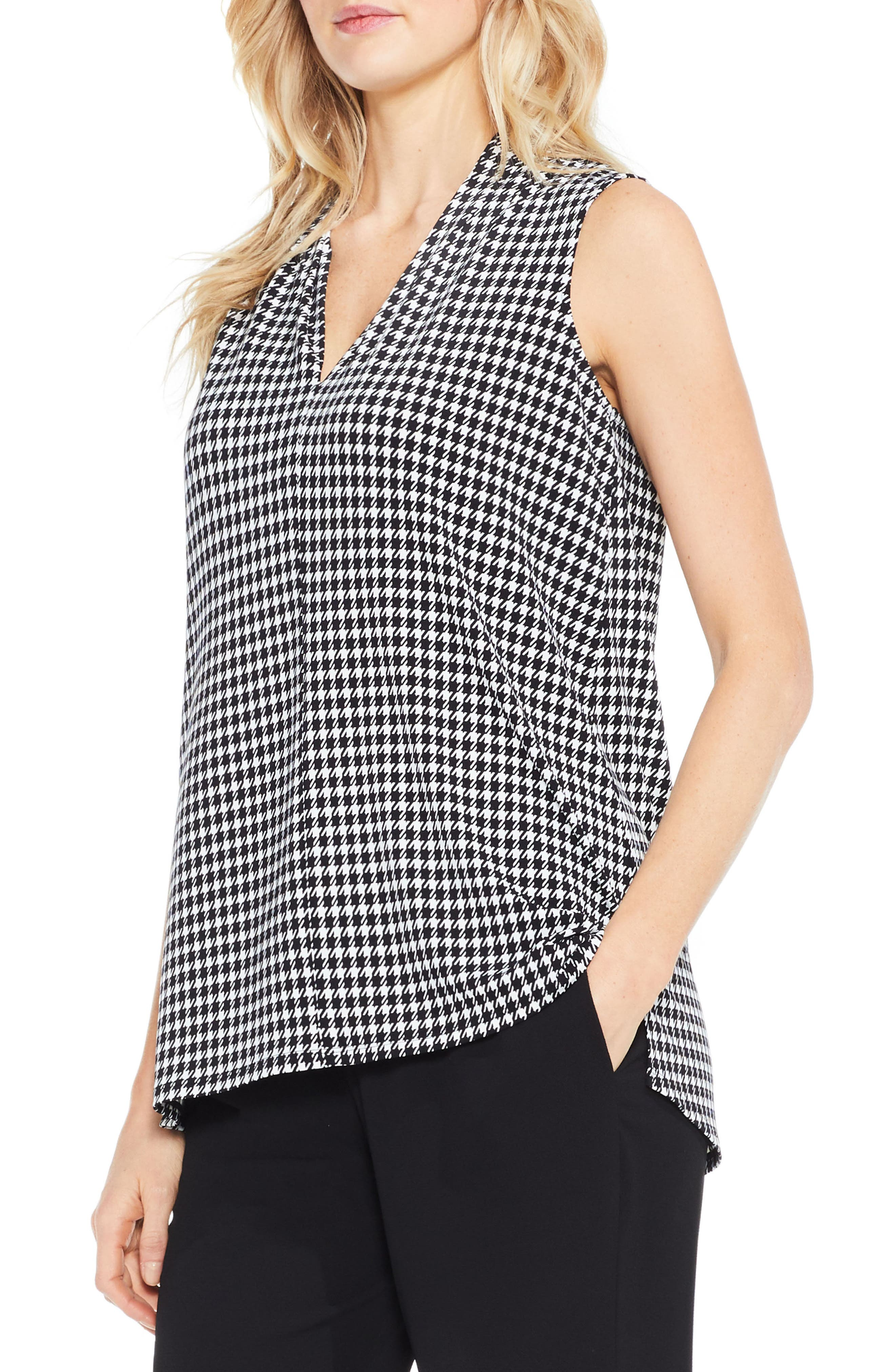 Vince Camuto Houndstooth Top