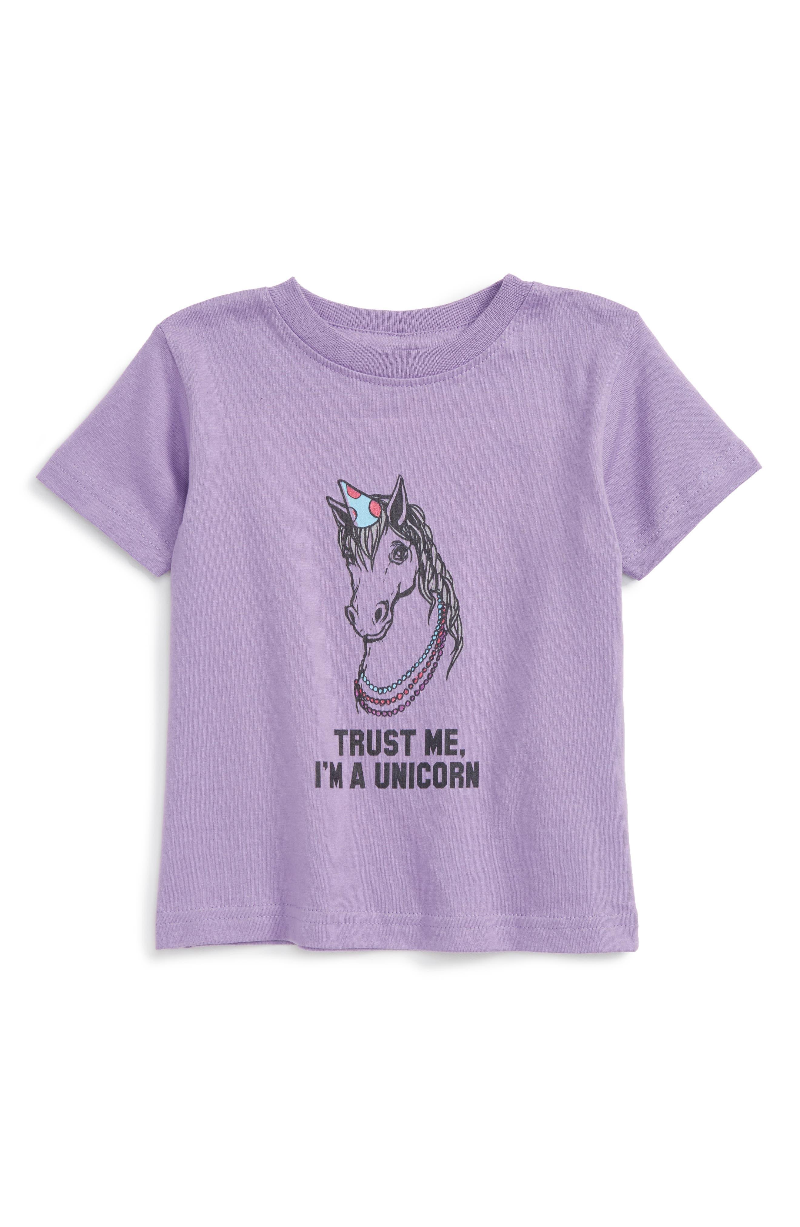 Kid Dangerous 'Unicorn' Graphic Tee (Baby Girls)