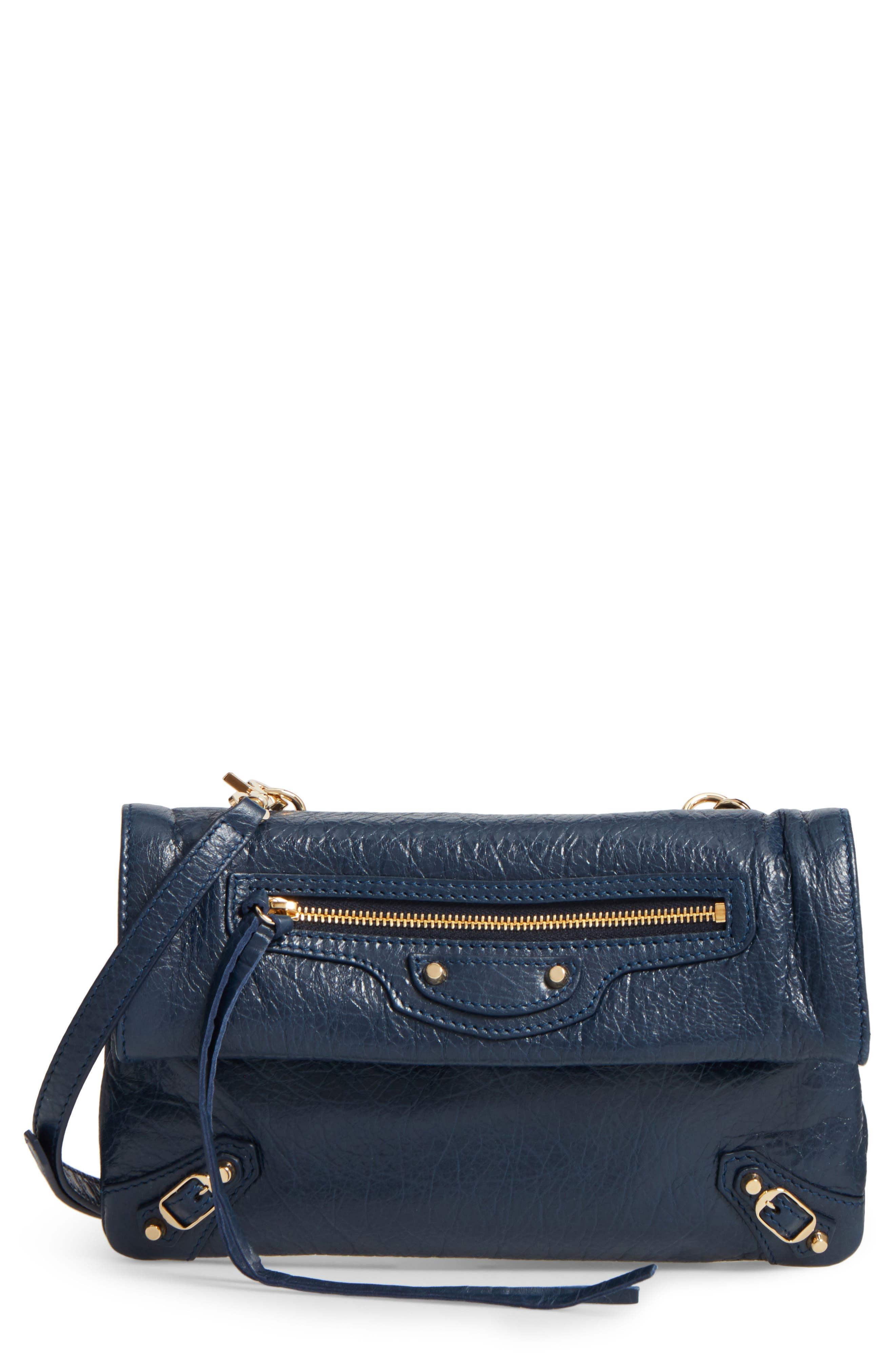 Balenciaga Classic Mini Envelope Leather Crossbody Bag