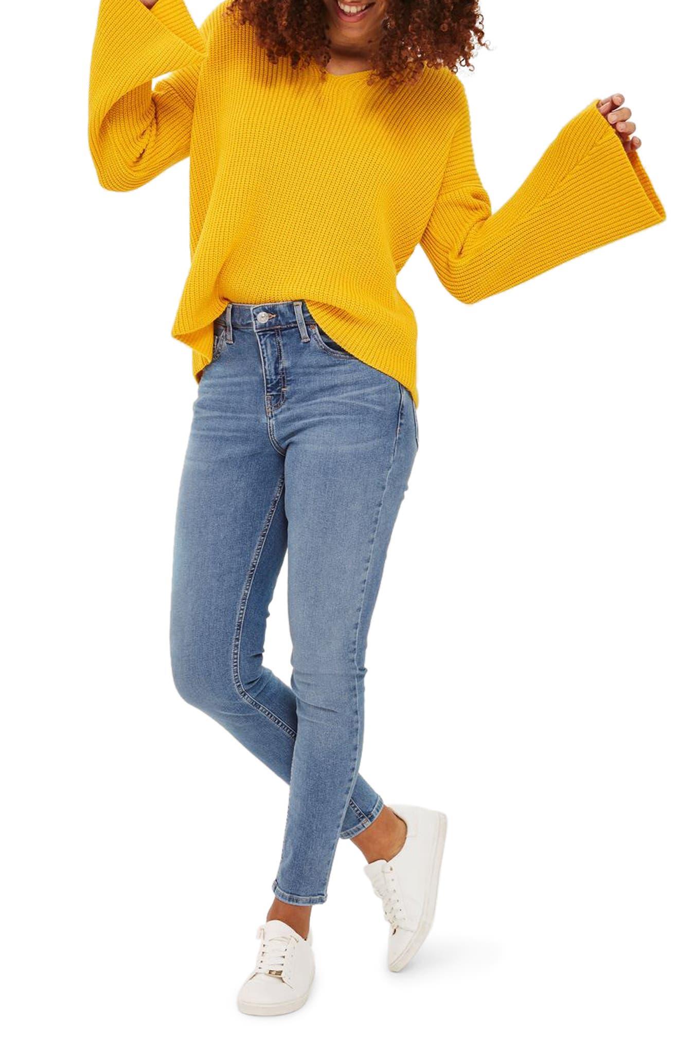 Main Image - Topshop Jamie High Waist Skinny Jeans