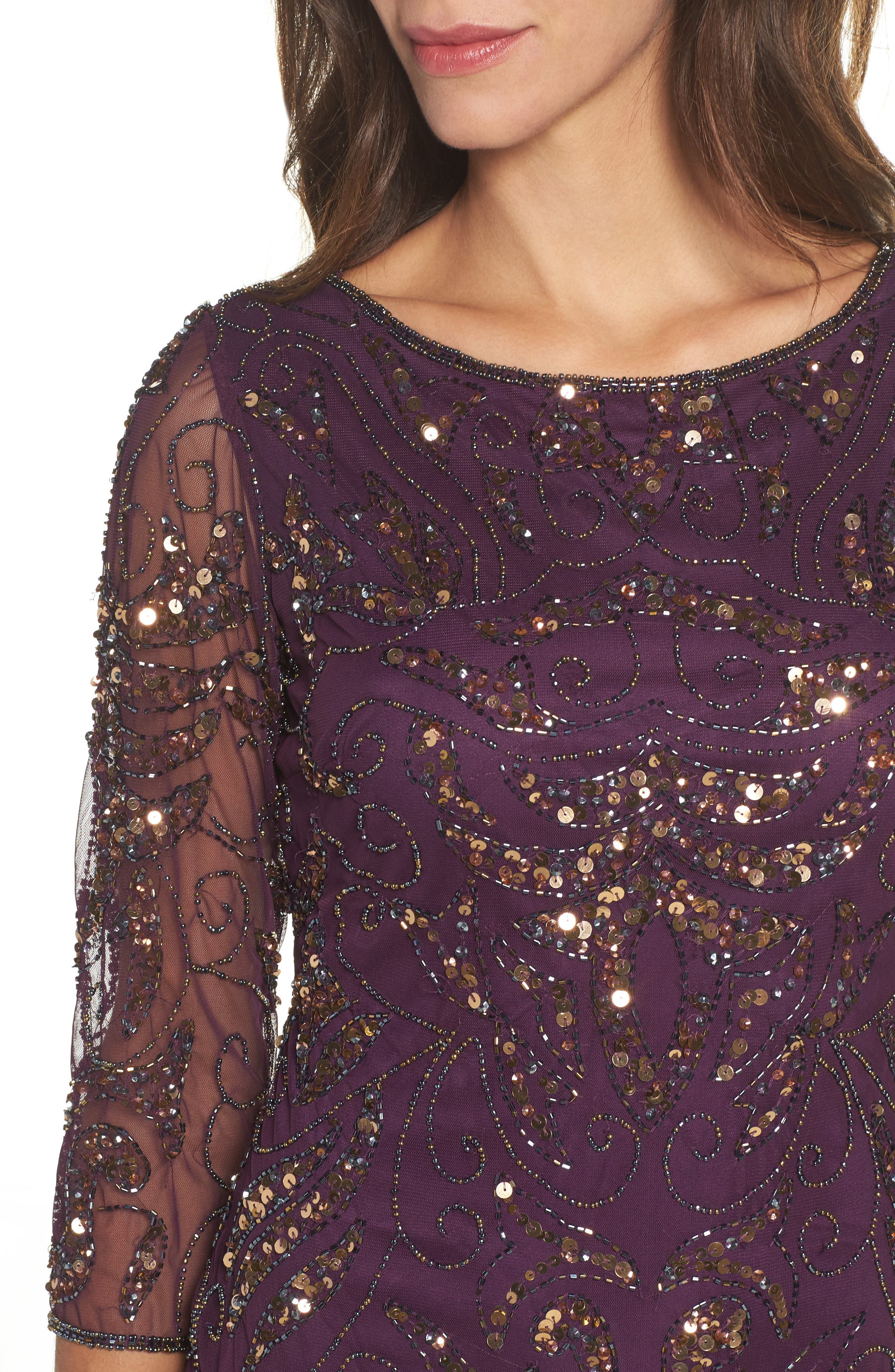 Alternate Image 4  - Pisarro Nights Embellished Mesh Gown (Regular & Petite)