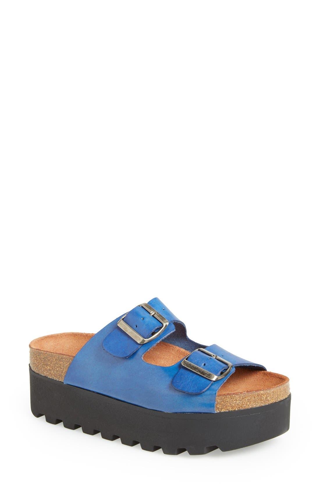 Alternate Image 1 Selected - SIXTYSEVEN 'Lisa' Leather Platform Sandal (Women)