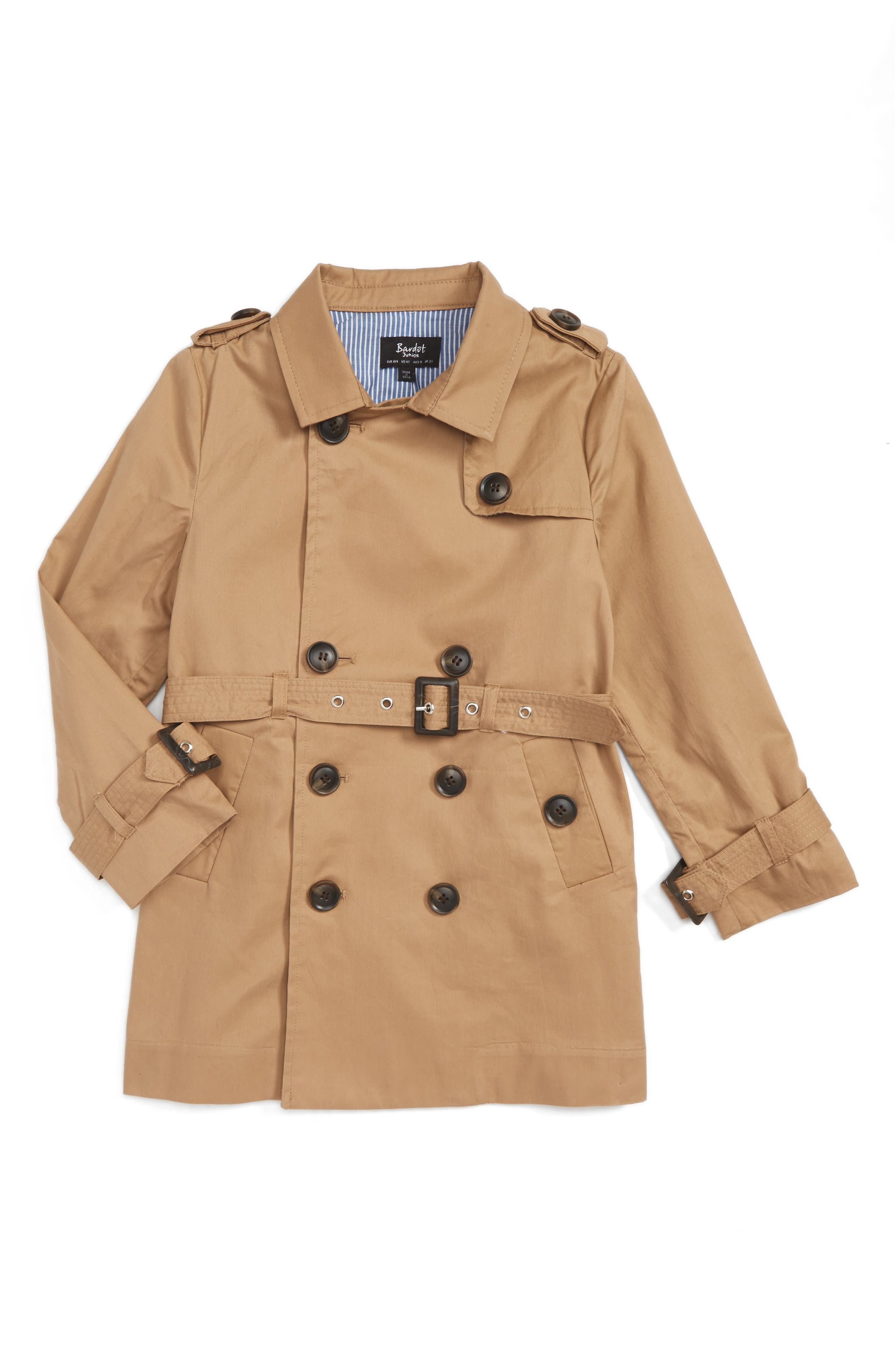 Bardot Junior Ryder Trench Coat (Toddler Boys & Little Boys)