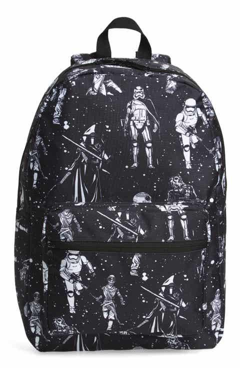 Star Wars The Force Awakens Black   White Space Backpack (Kids)