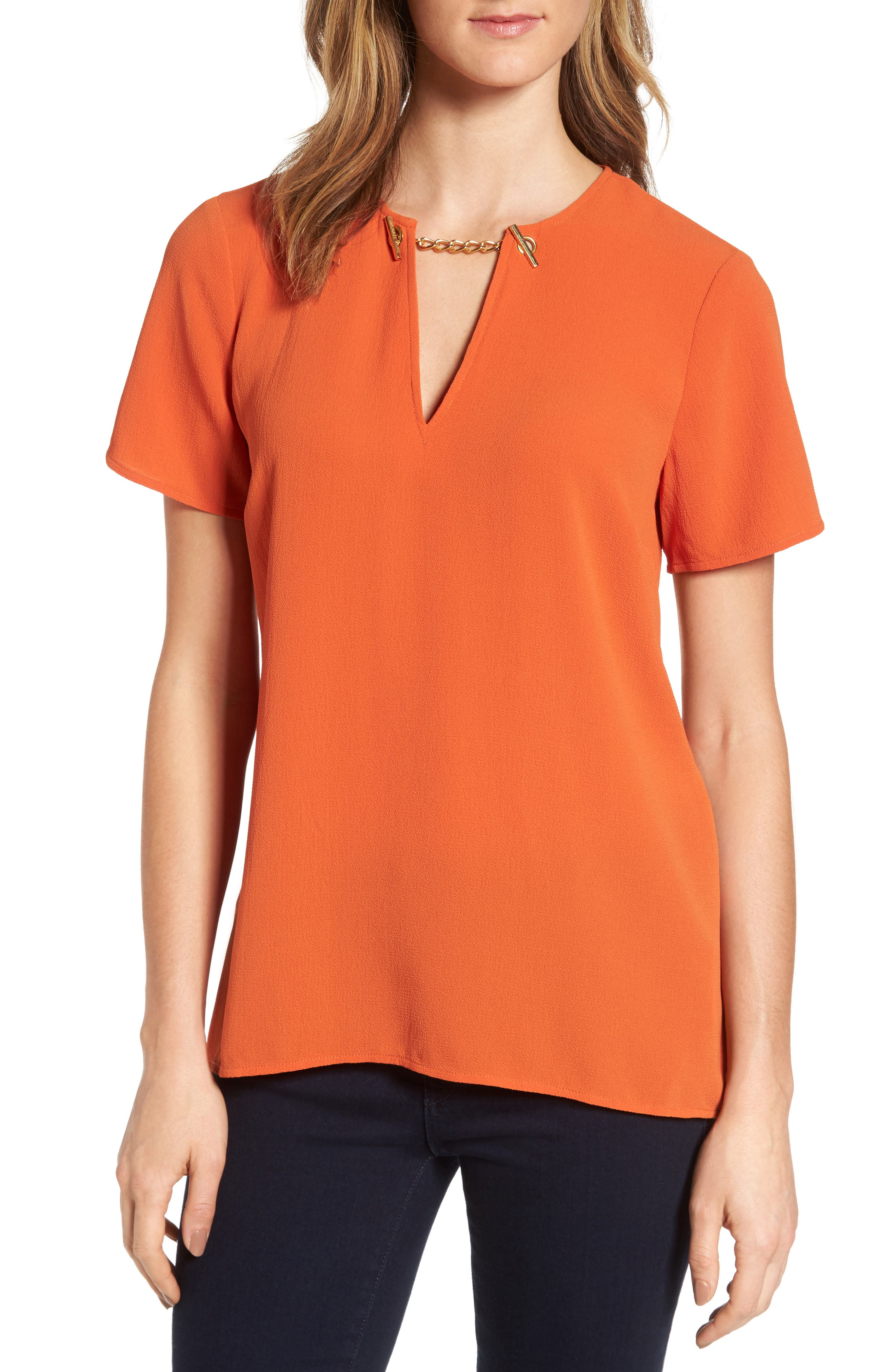 MICHAEL Michael Kors High/Low Chain Top