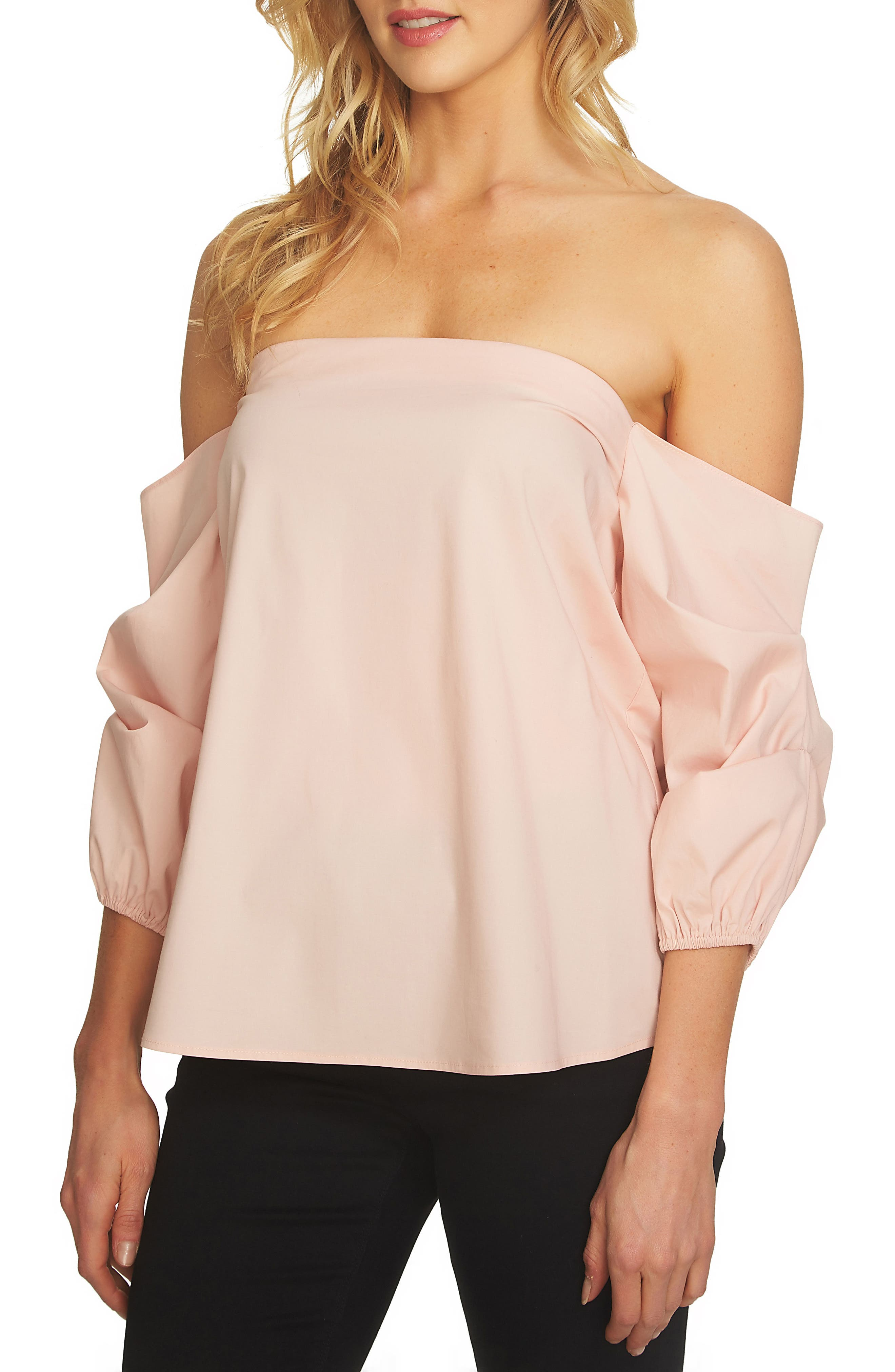 1.STATE Off the Shoulder Voluminous Blouse