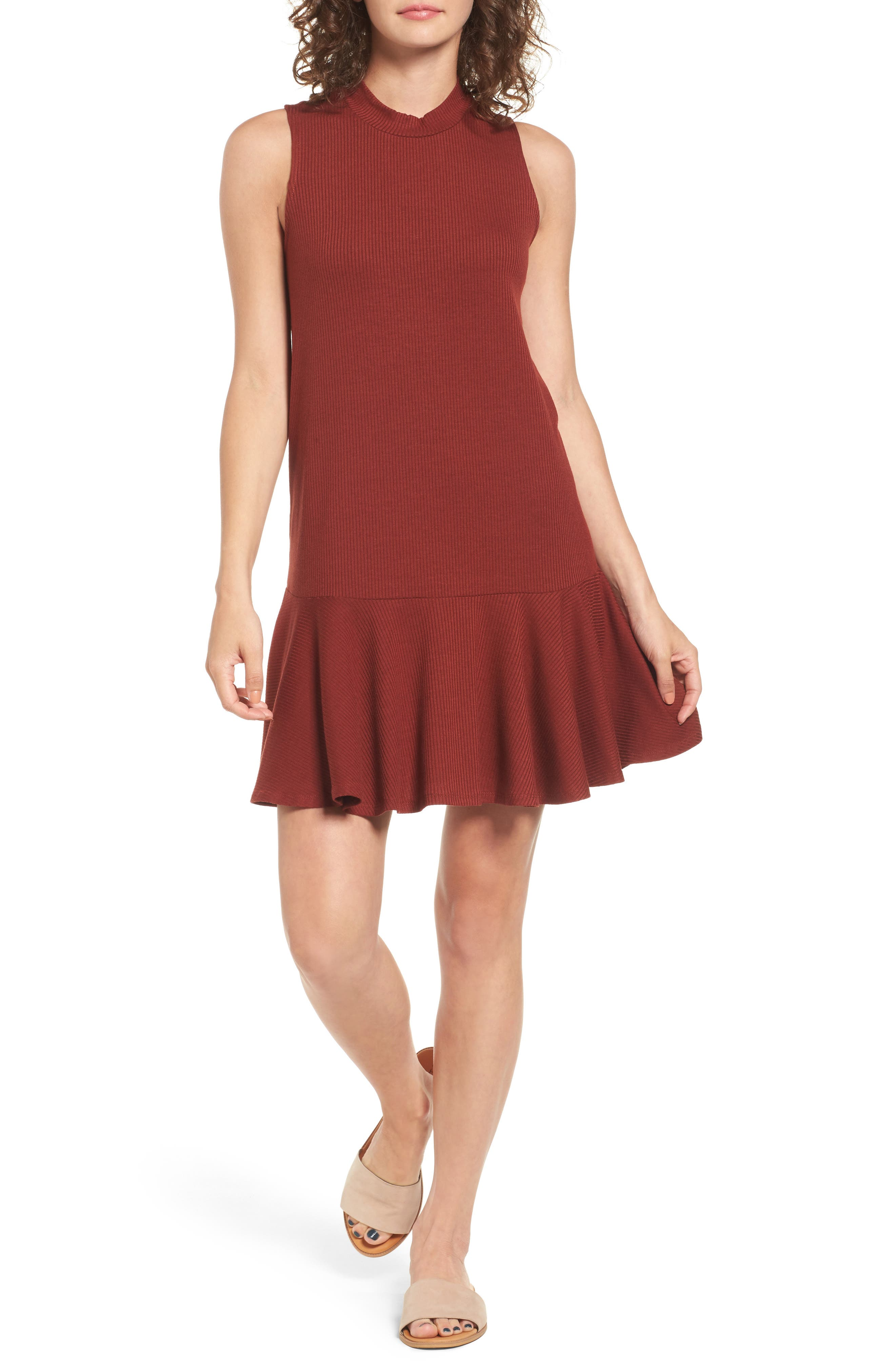 Love, Fire Ruffle Hem Dress