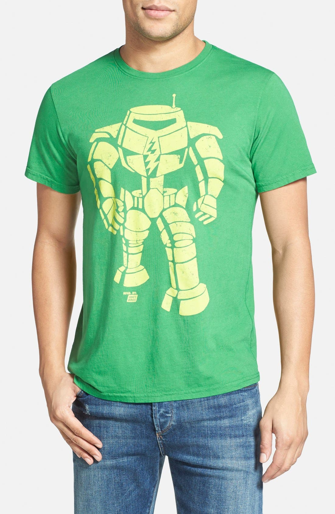 Alternate Image 1 Selected - Ames Bros 'Man-Bot' Graphic T-Shirt