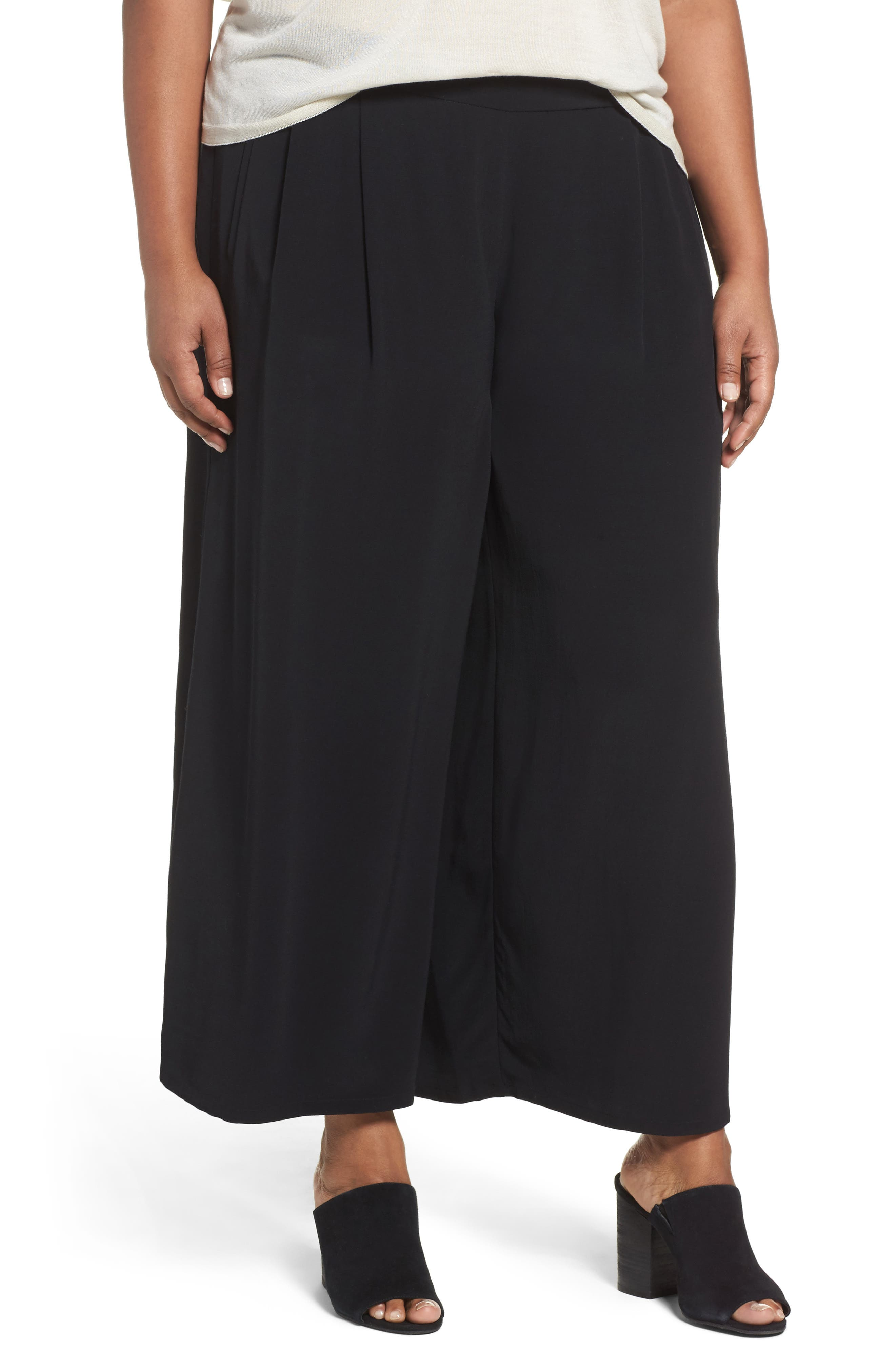 Eileen Fisher Wide Leg Pants (Plus Size)