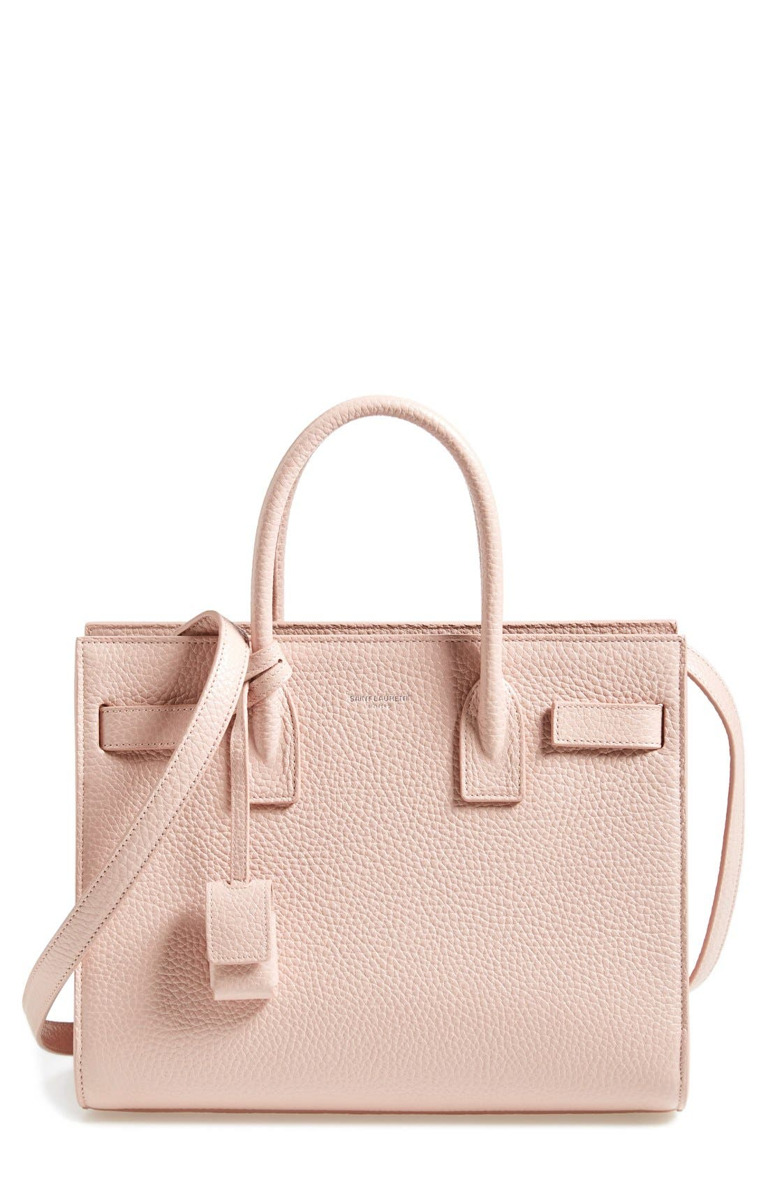 Alternate Image 1 Selected - Saint Laurent 'Baby Sac de Jour' Grained Calfskin Leather Tote