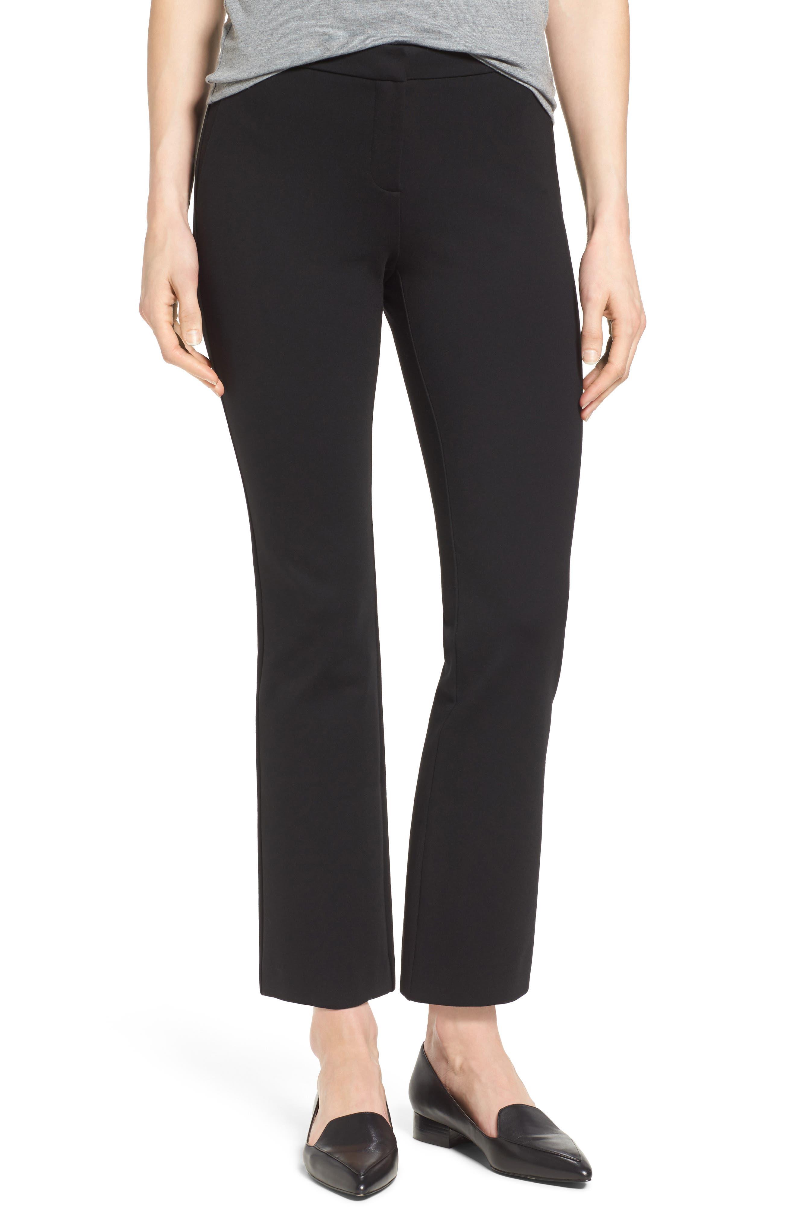 Alternate Image 1 Selected - Halogen® Kick Flare Knit Ankle Pants (Regular & Petite)