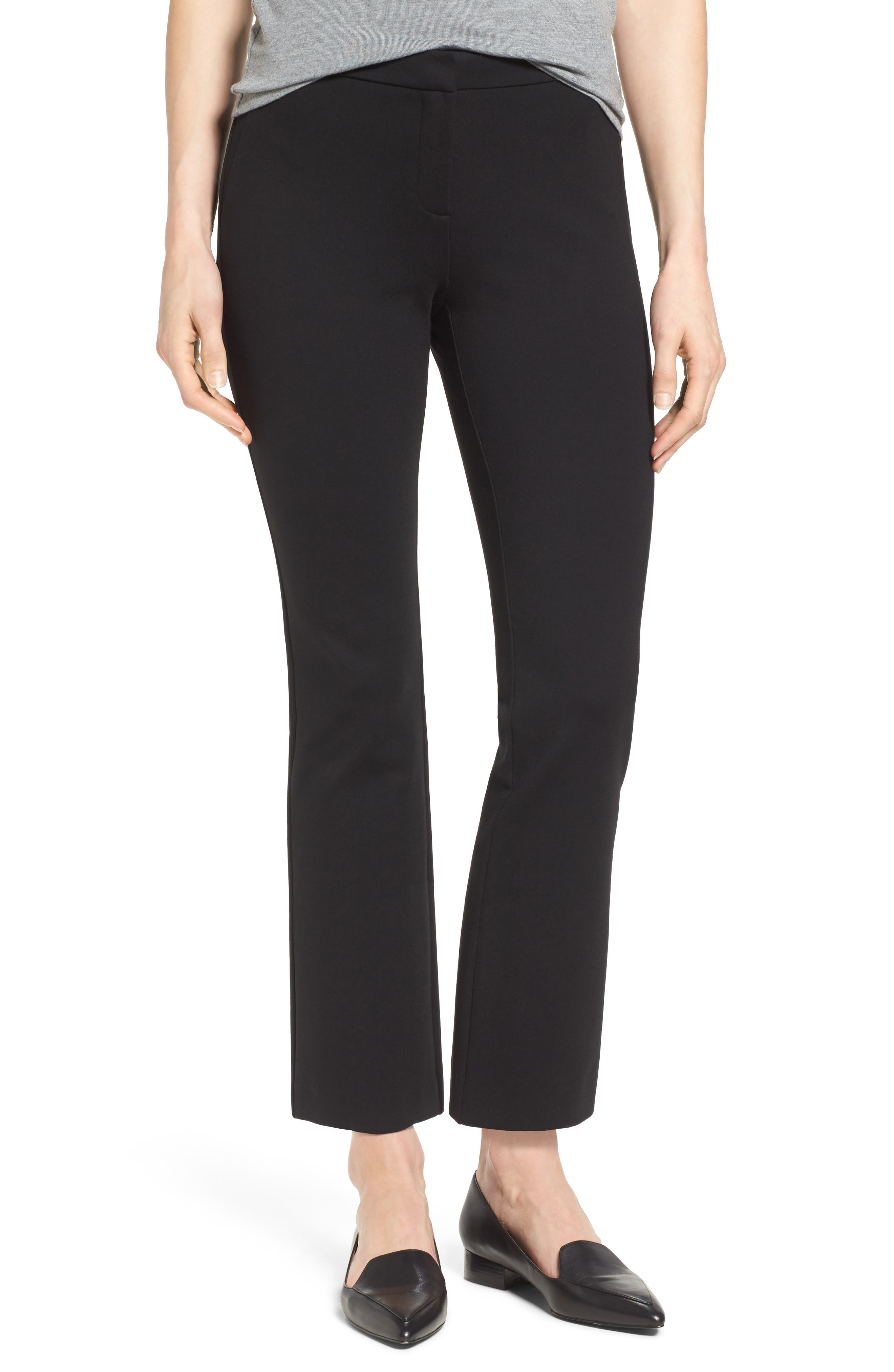 Halogen® Kick Flare Knit Ankle Pants (Regular & Petite)