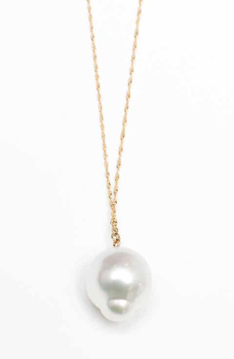Poppy Finch Pearl Pendant Necklace