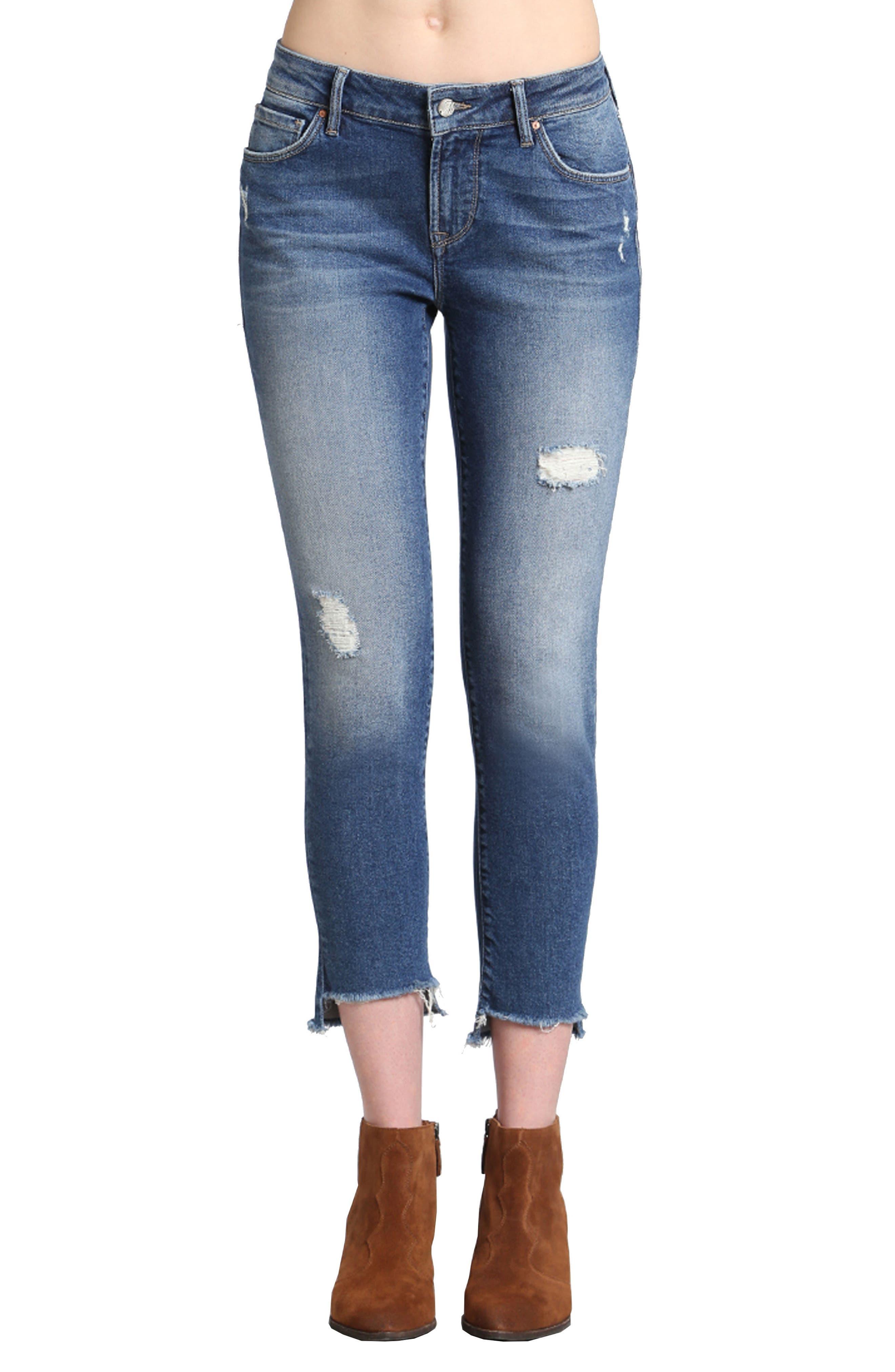 Mavi Jeans Ada Distressed Boyfriend Jeans (Mid 90s Vintage)