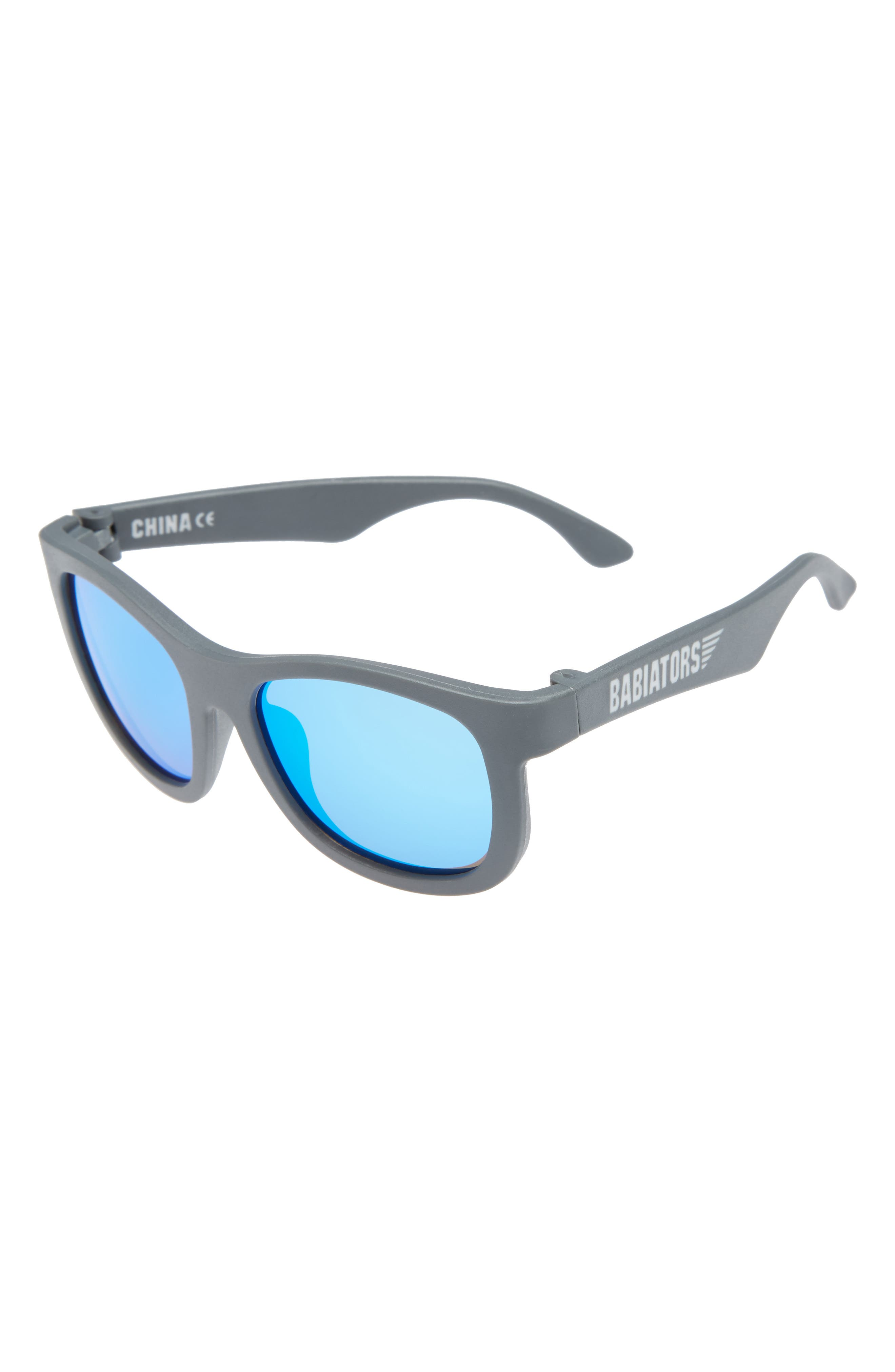Babiators Limited Edition Mirrored Matte Frame Navigator Sunglasses