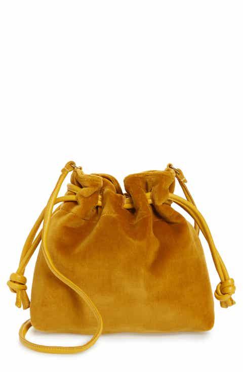 Clare V. Petite Henri Velvet Bucket Bag