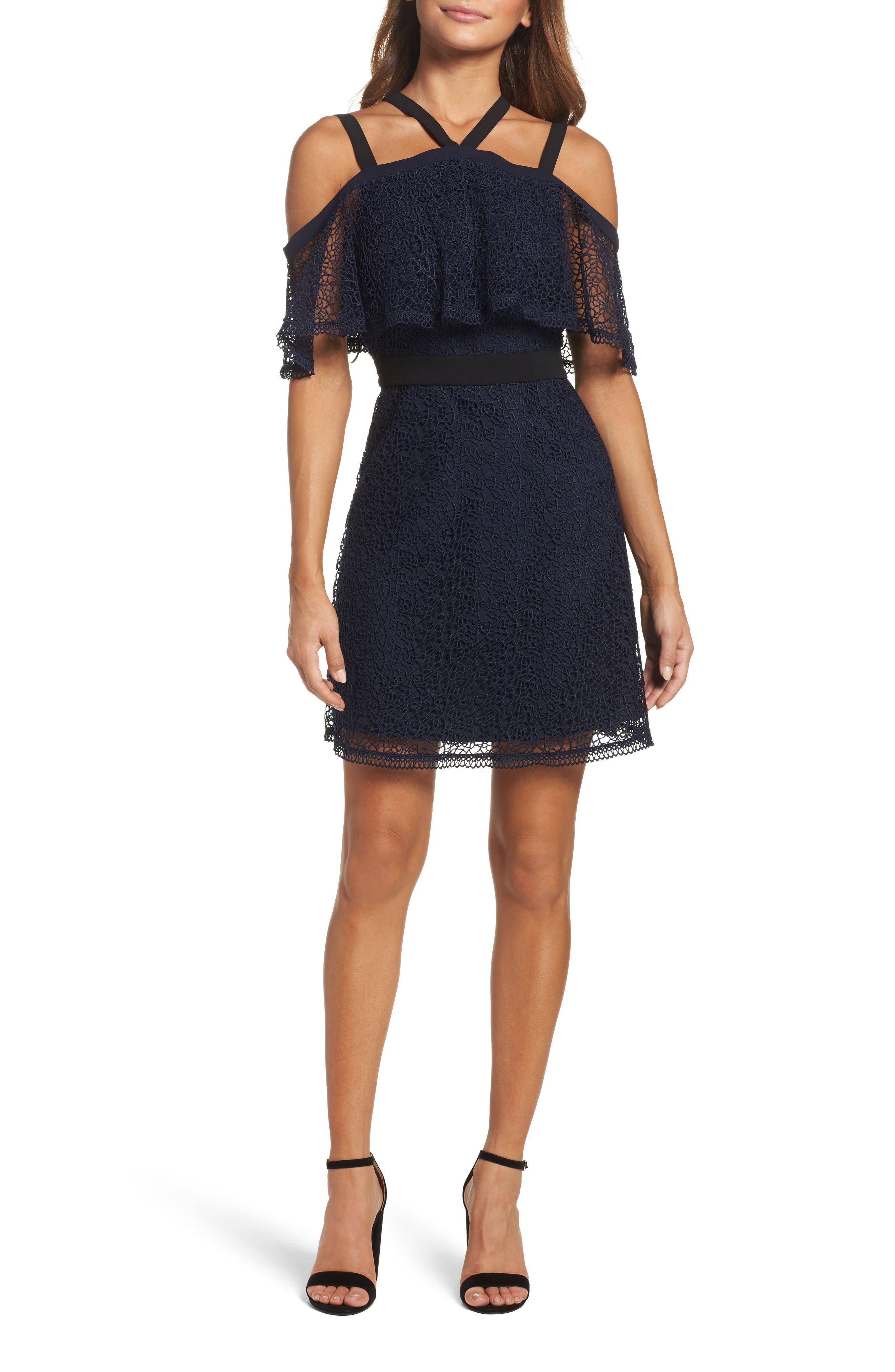 Chelsea28 Lace Halter Dress