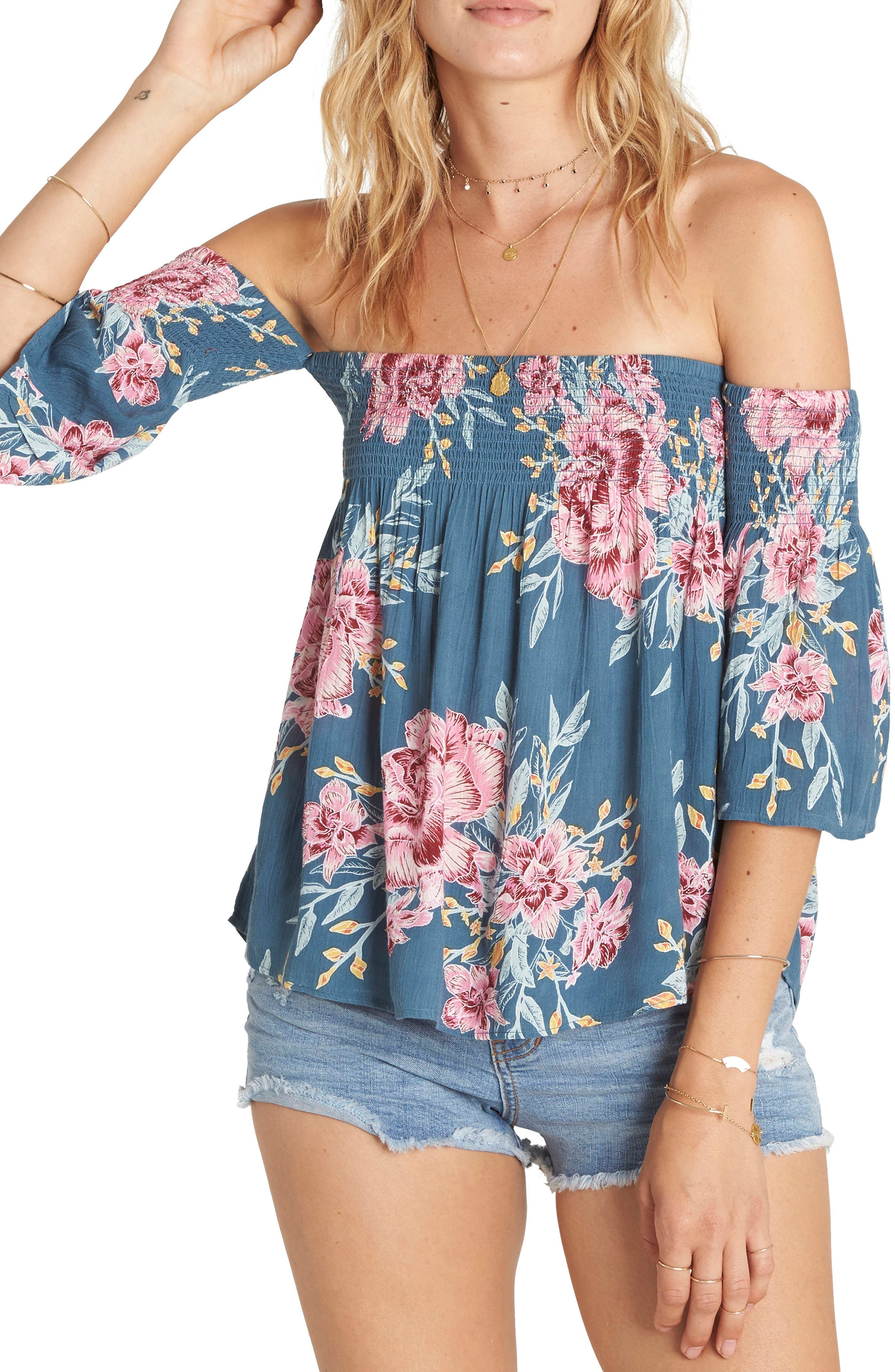 Billabong Free Flows Off the Shoulder Top