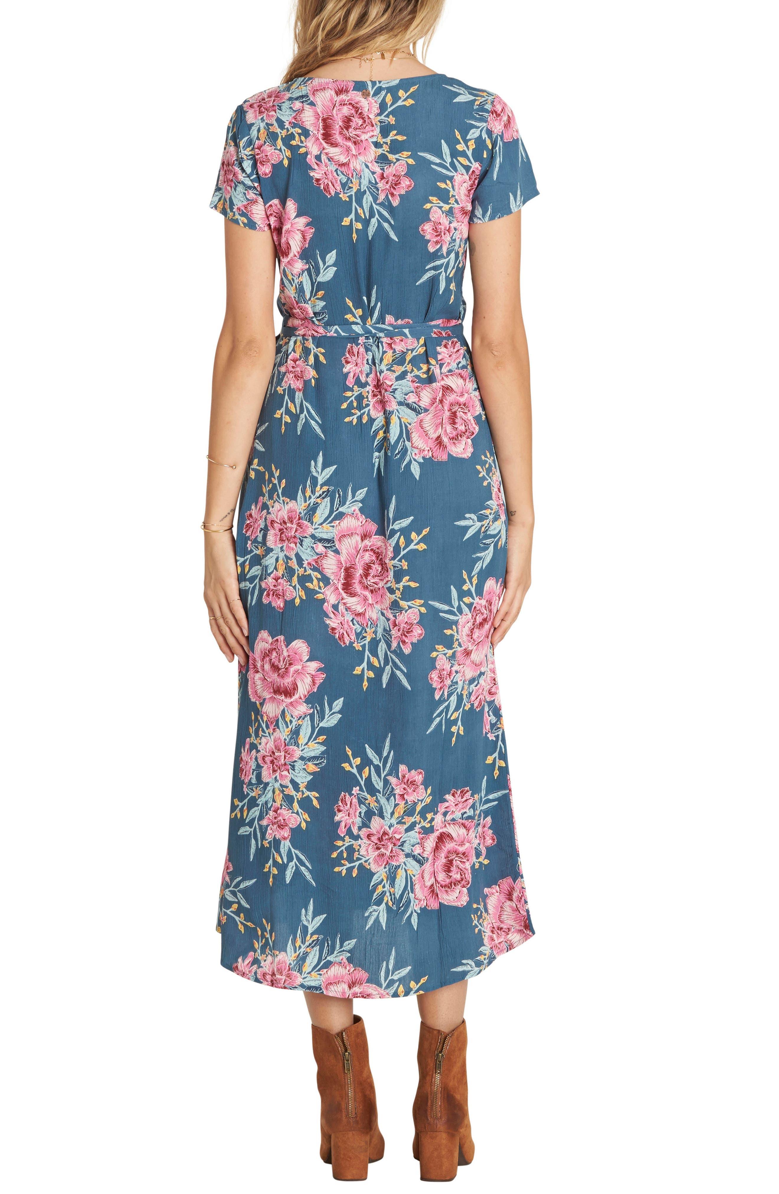Alternate Image 2  - Billabong Wrap Me Up Floral Print Wrap Dress
